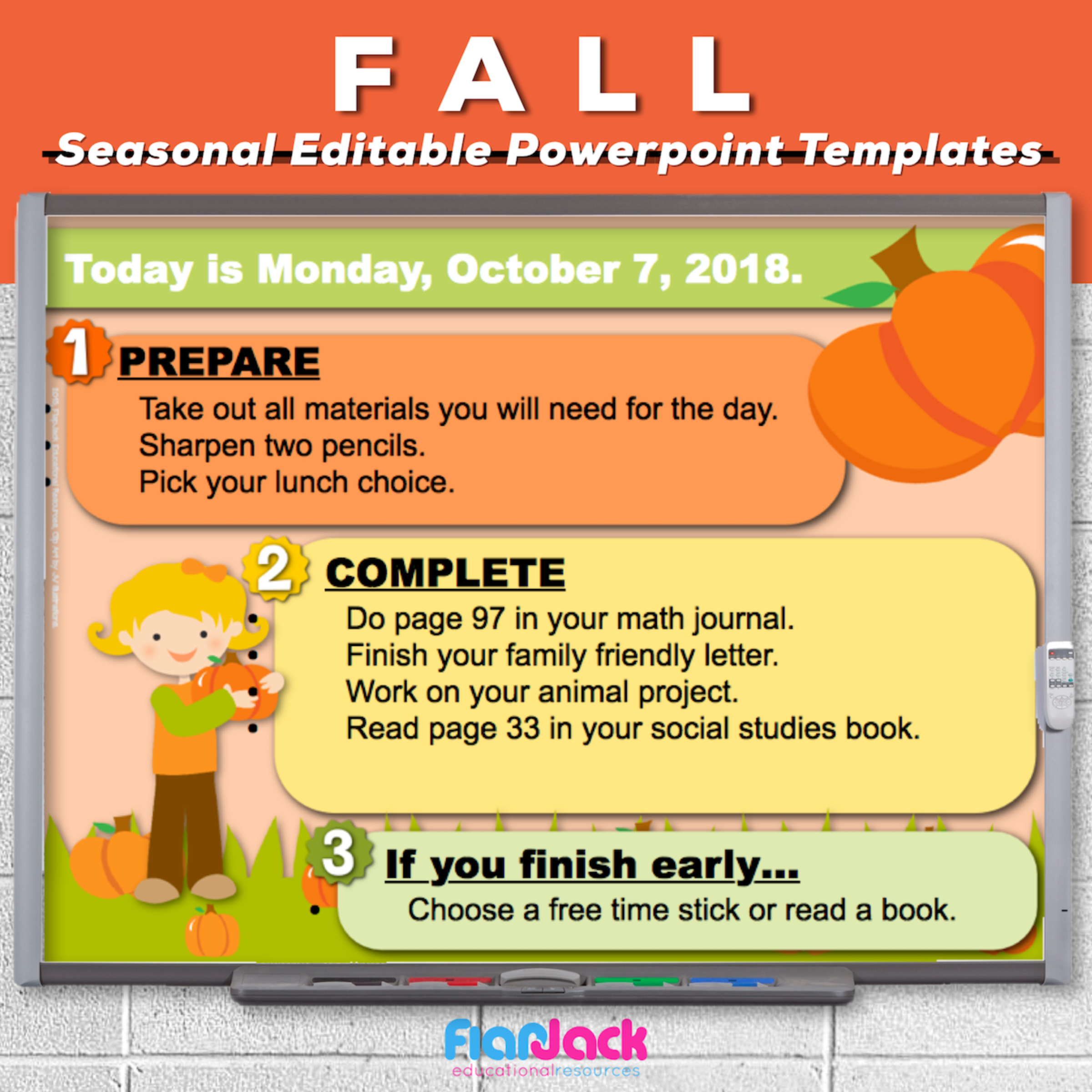 Fall Editable PowerPoint Templates