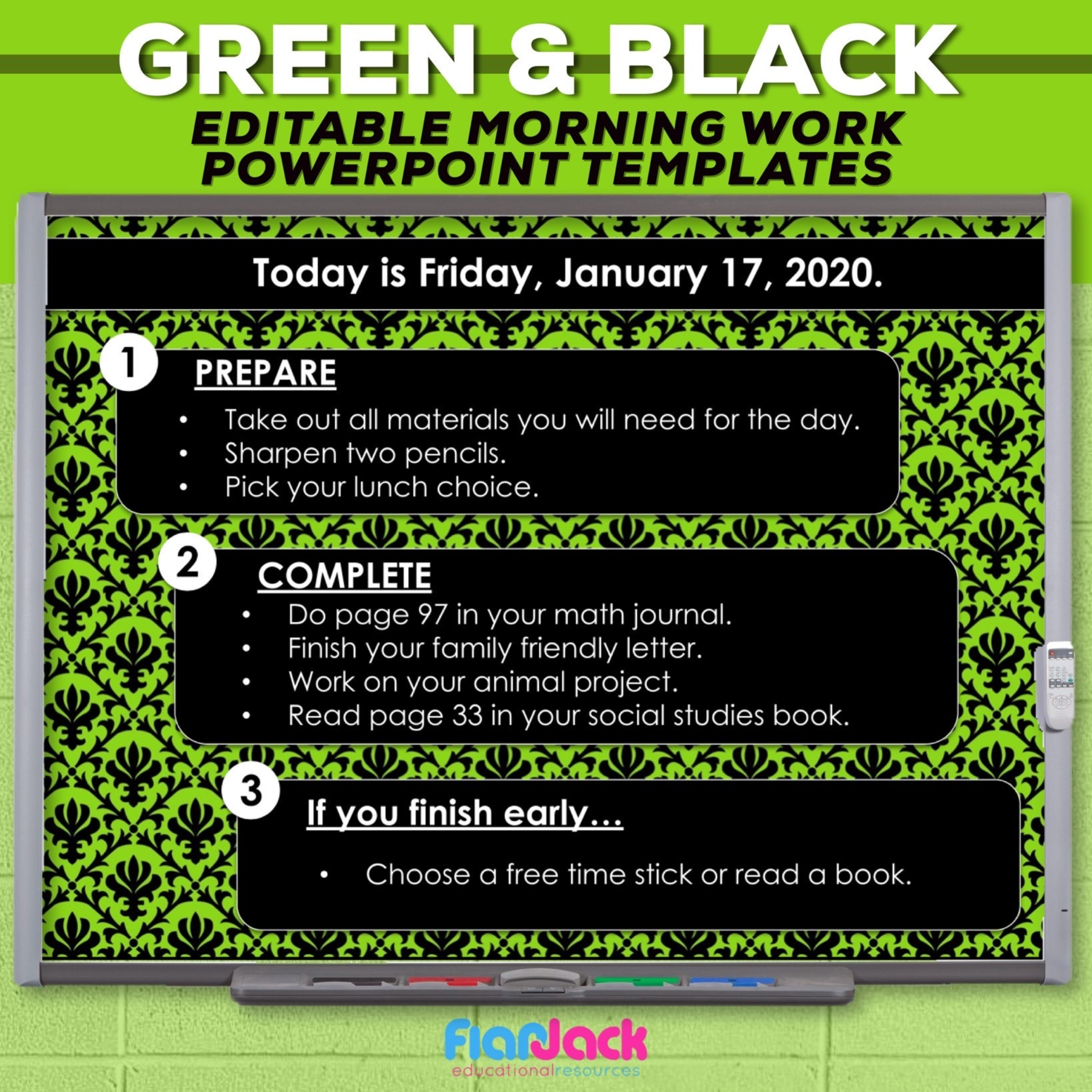Editable PowerPoint Templates | Green And Black
