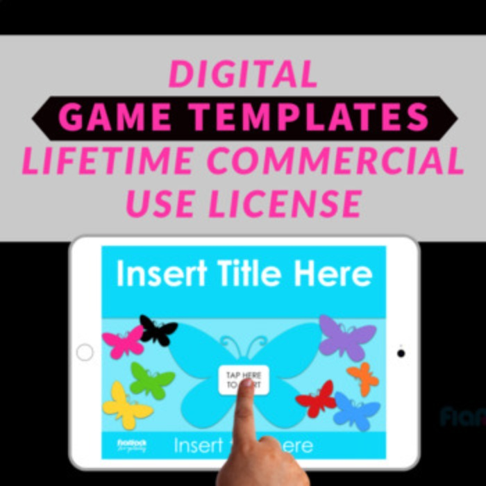 Digital Google PowerPoint Game Templates Commercial License