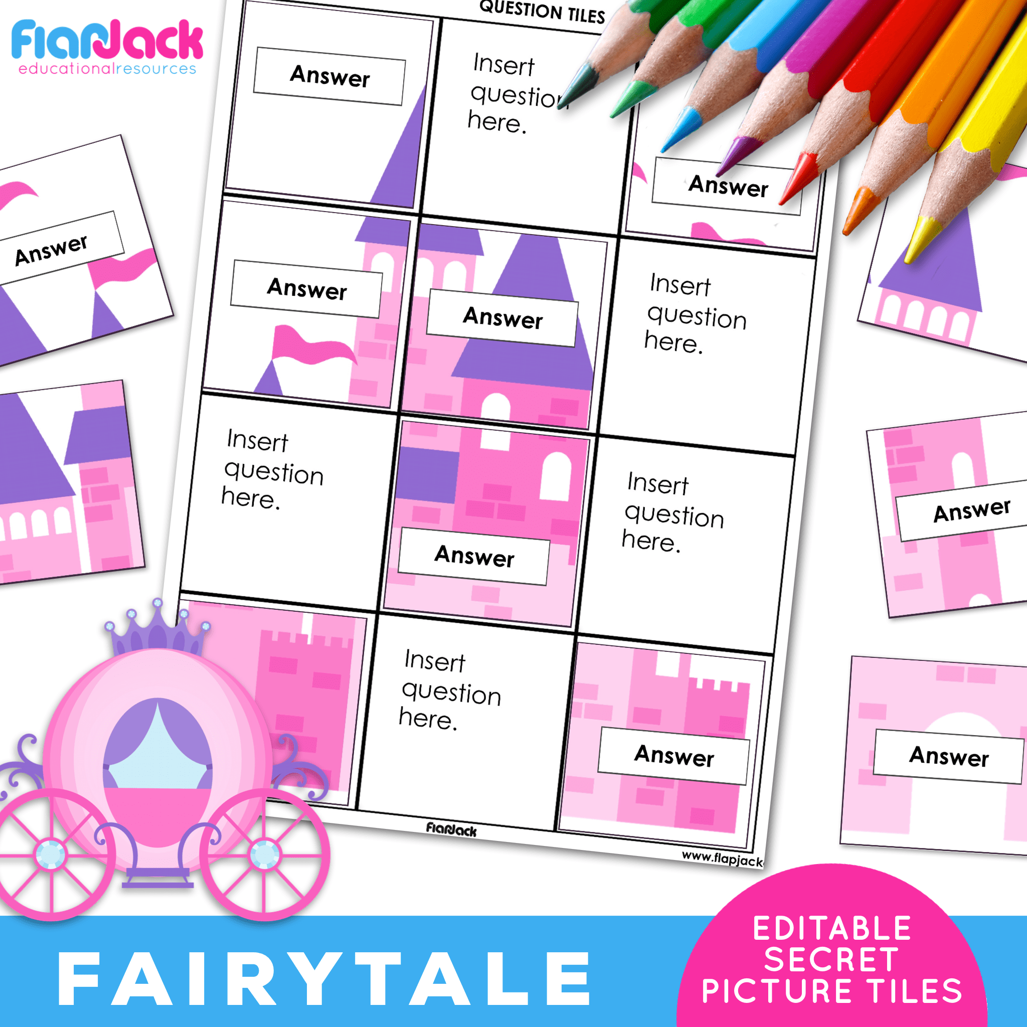 Printable EDITABLE Worksheets | Fairytale