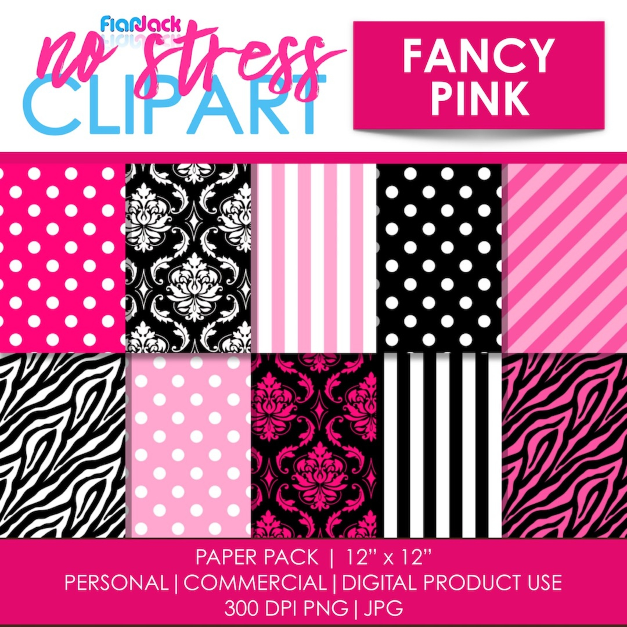 Fancy Pink Digital Papers