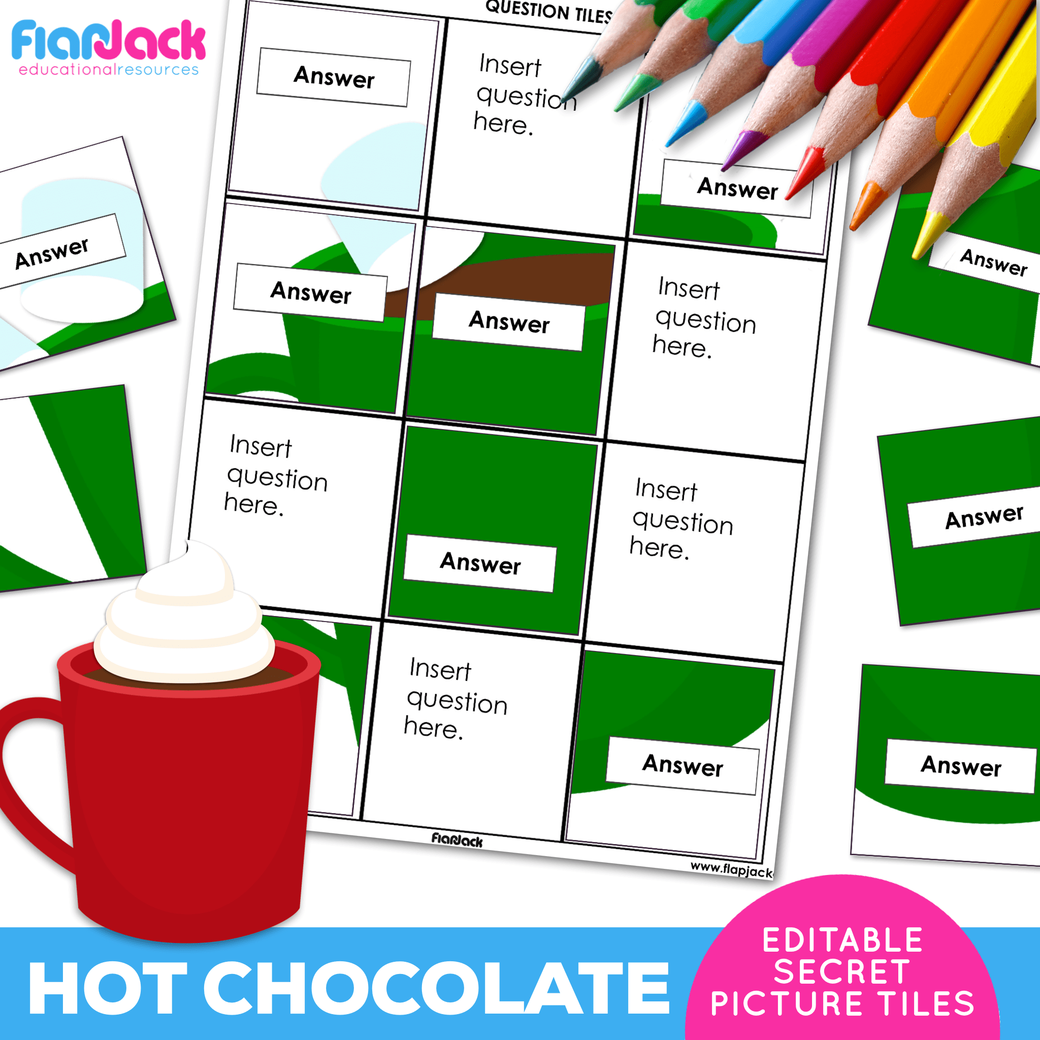 Printable EDITABLE Worksheets | Hot Chocolate