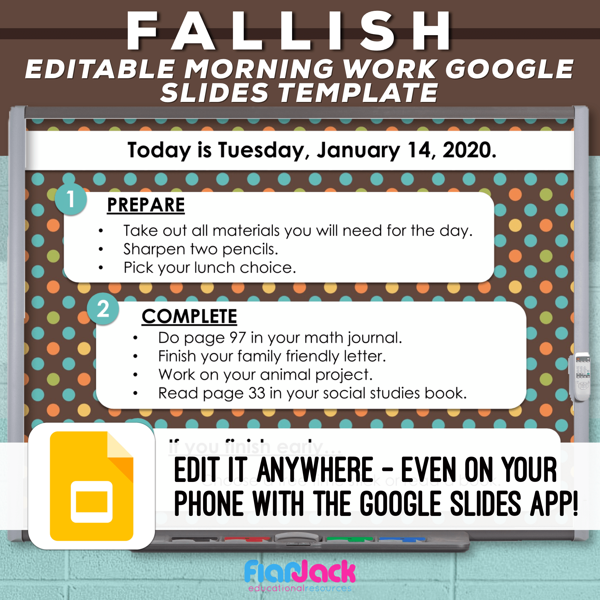Editable Google Slide Templates | Fallish