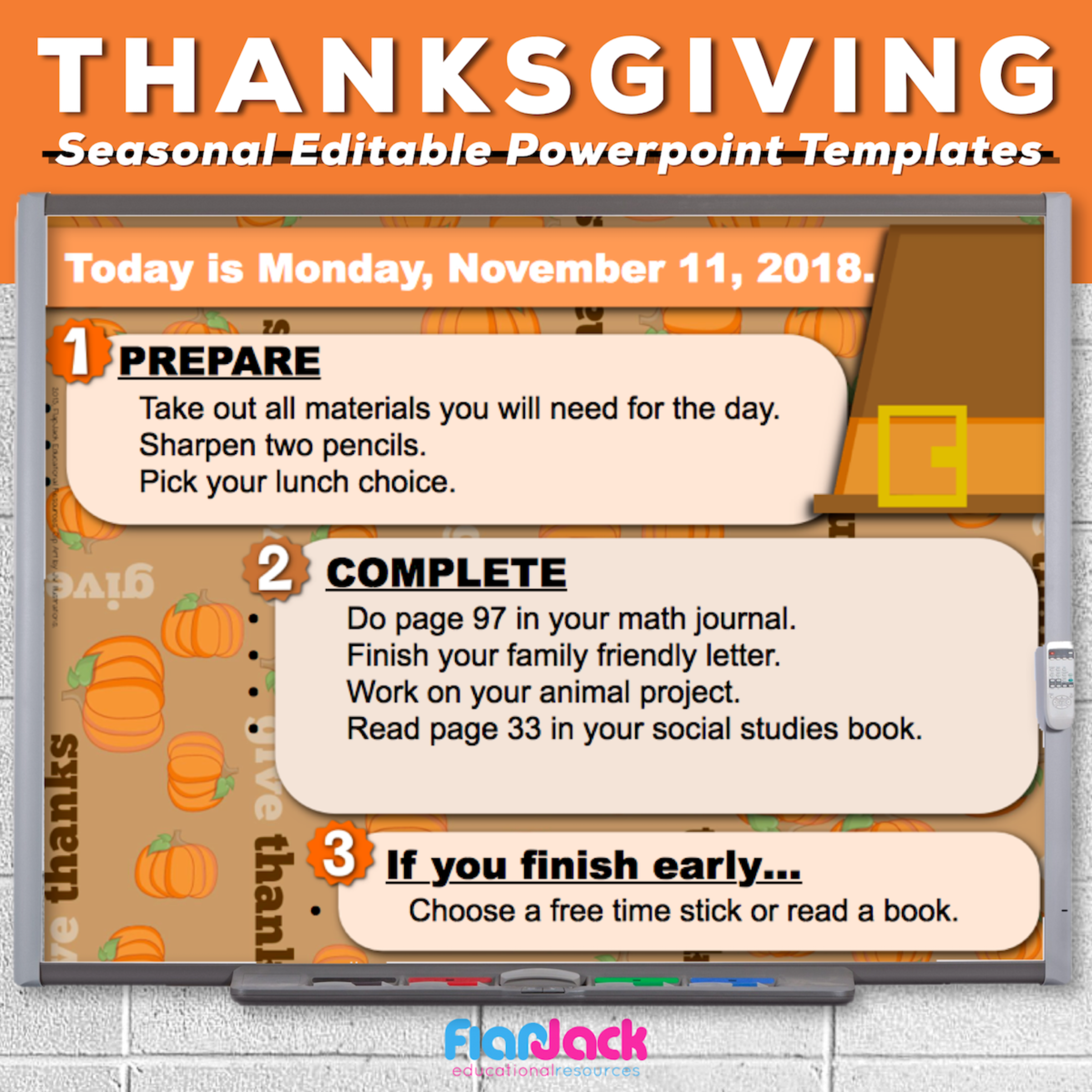 Thanksgiving Day Editable PowerPoint Templates