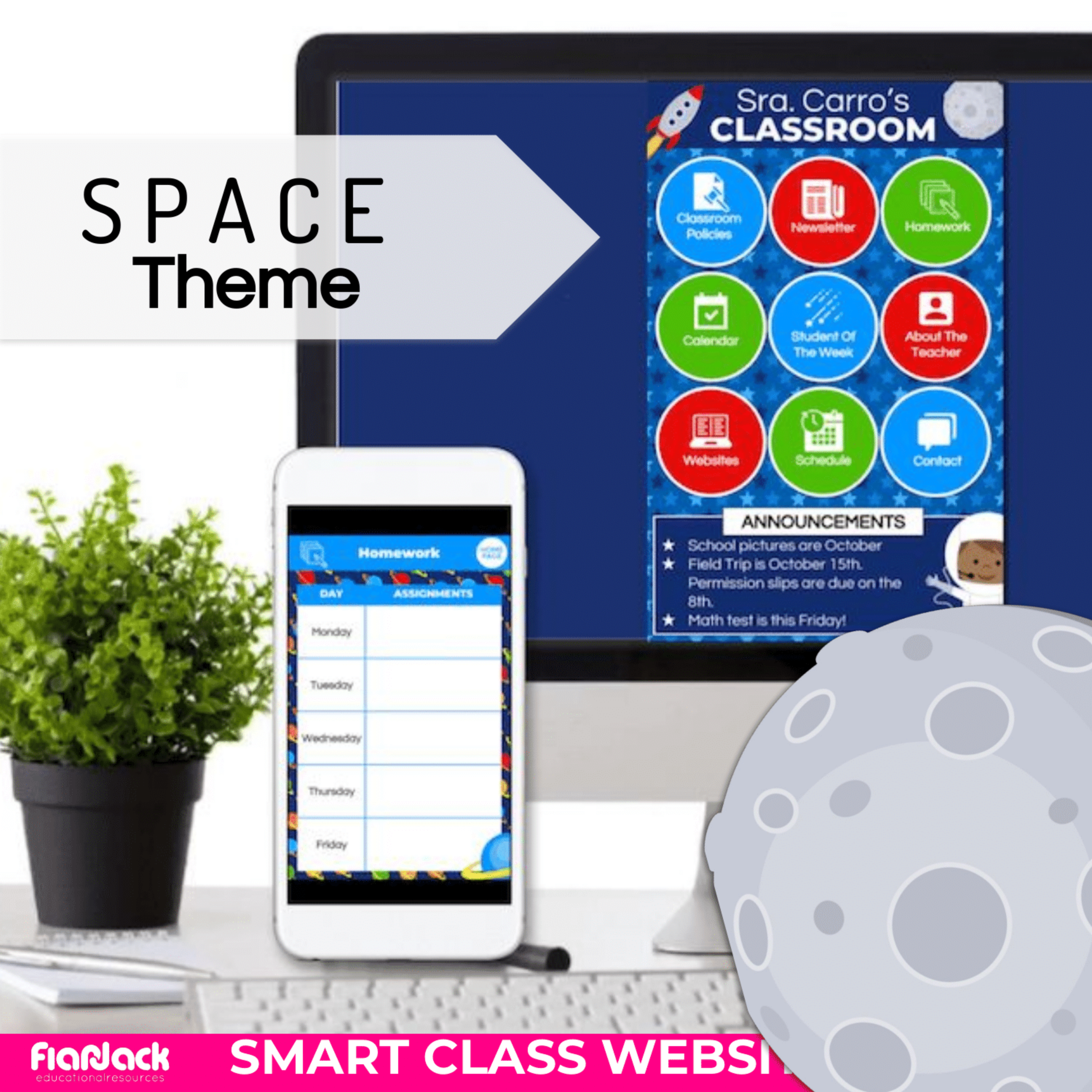 SPACE Smart Class Website Doc (Google Slides Style!)