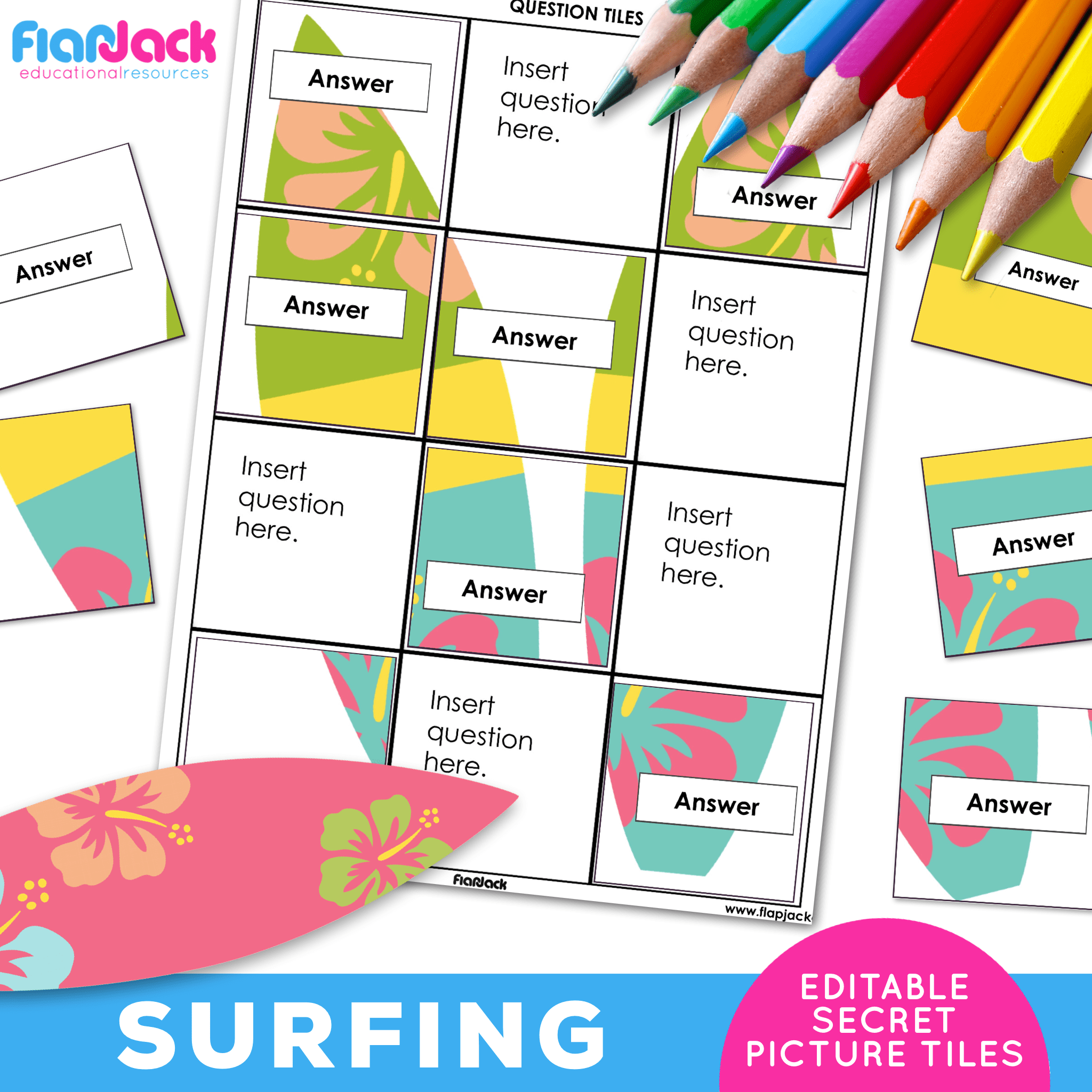 Printable EDITABLE Worksheets | Surfing