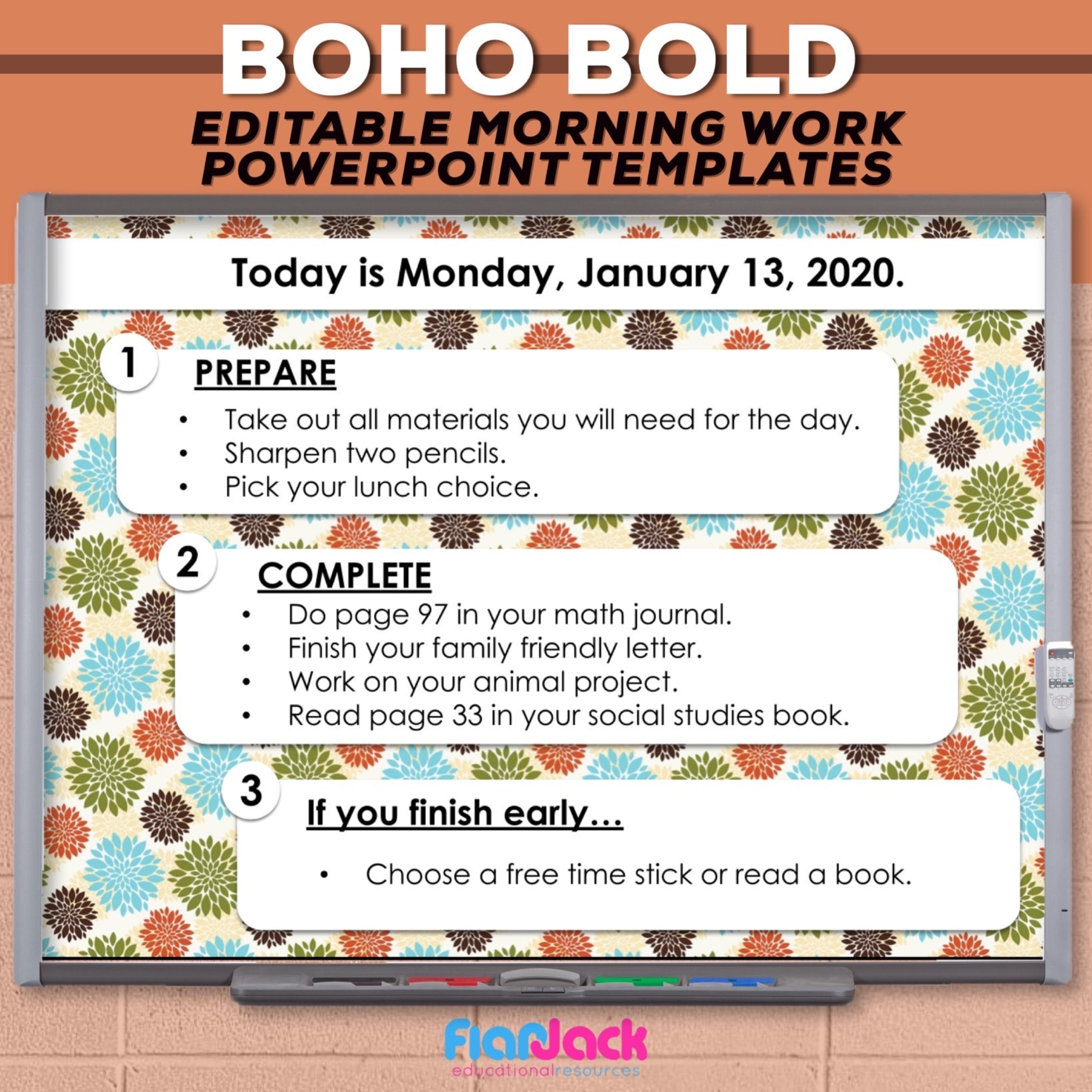 Boho Bold Editable PowerPoint Templates