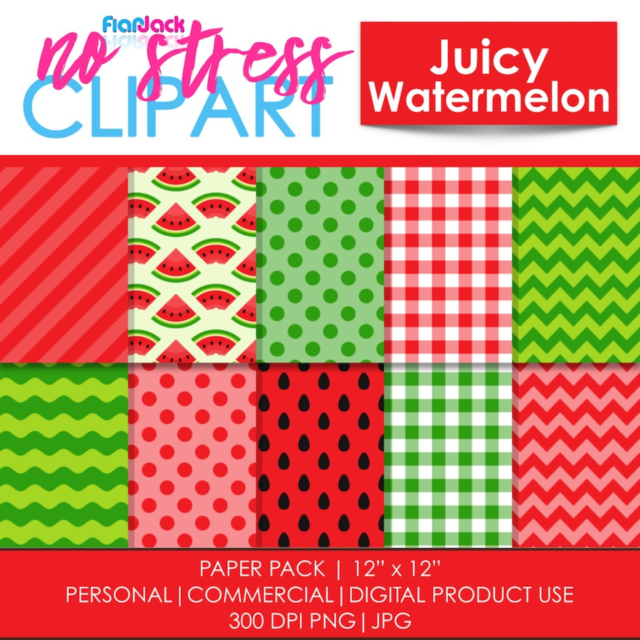 Juicy Watermelon Digital Papers