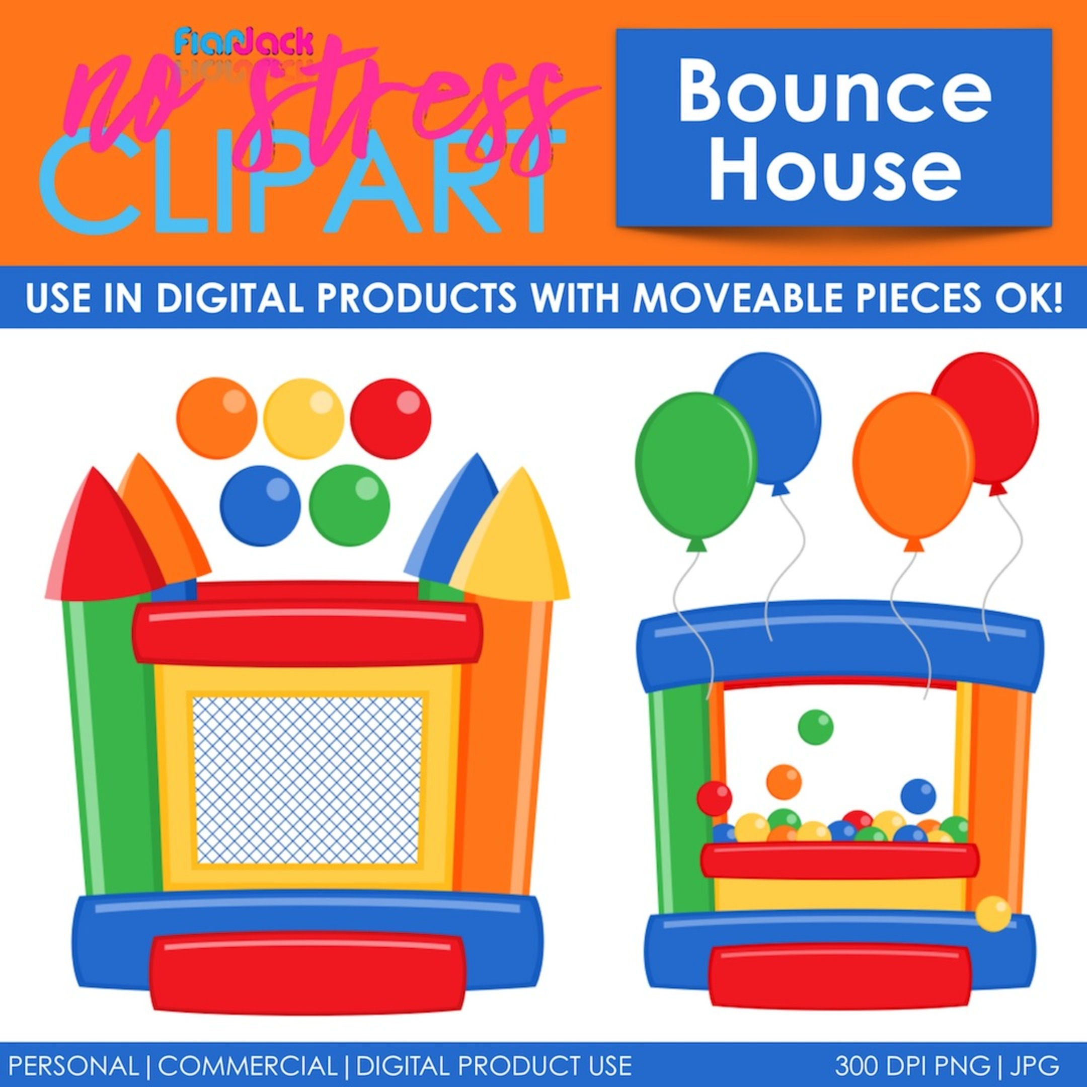 Bounce House Blue Version