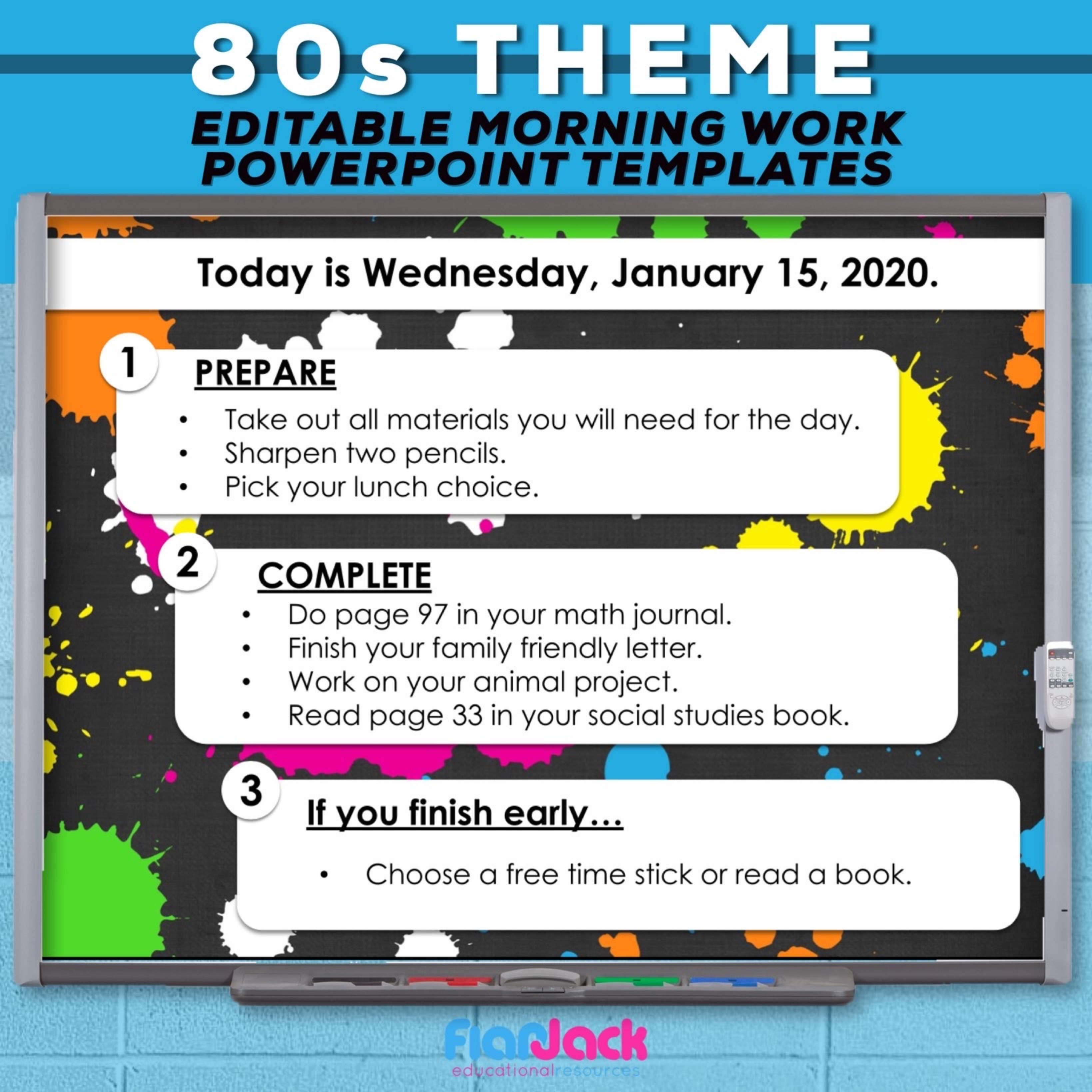 Editable PowerPoint Templates | 80s Vibes