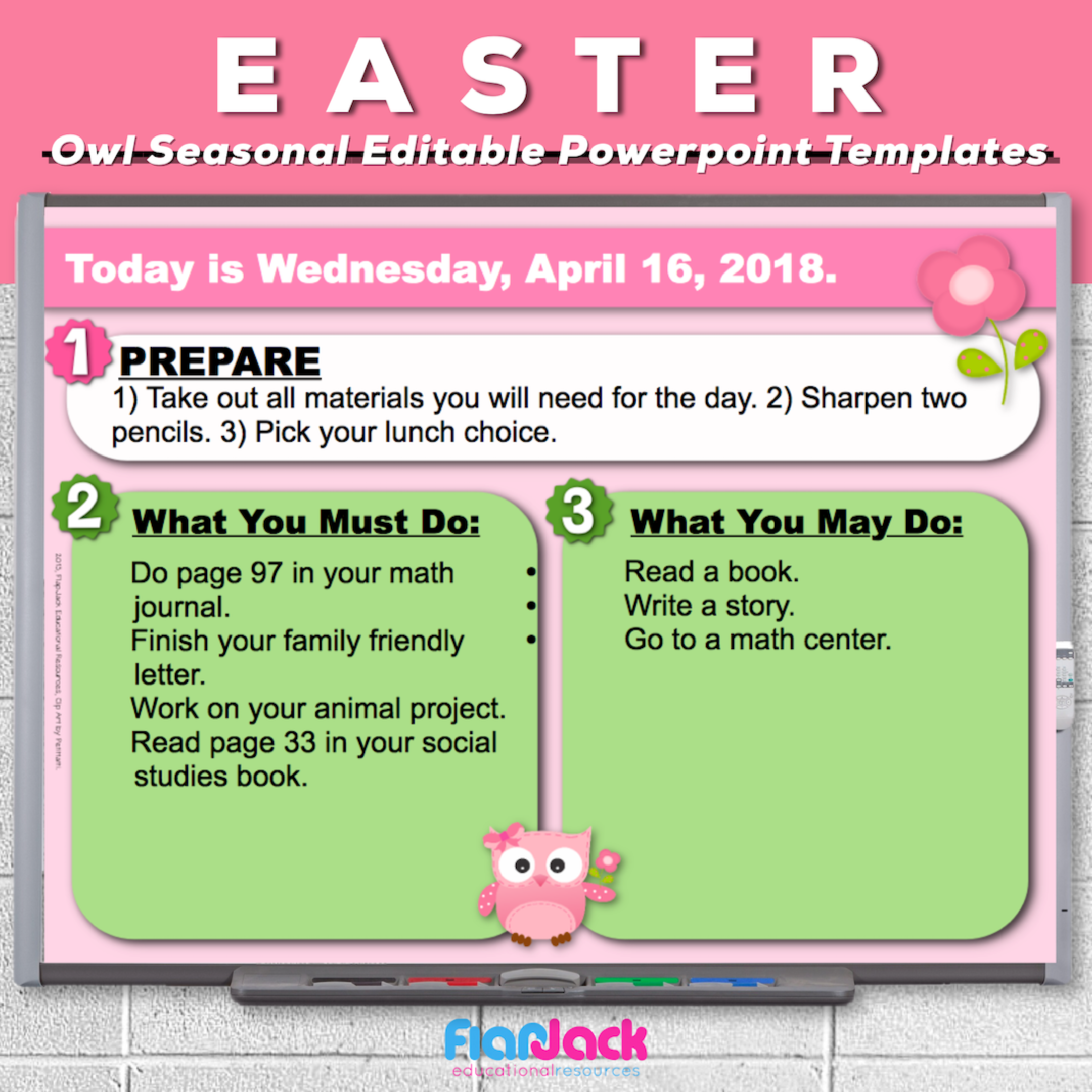 Easter Owl Editable PowerPoint Templates