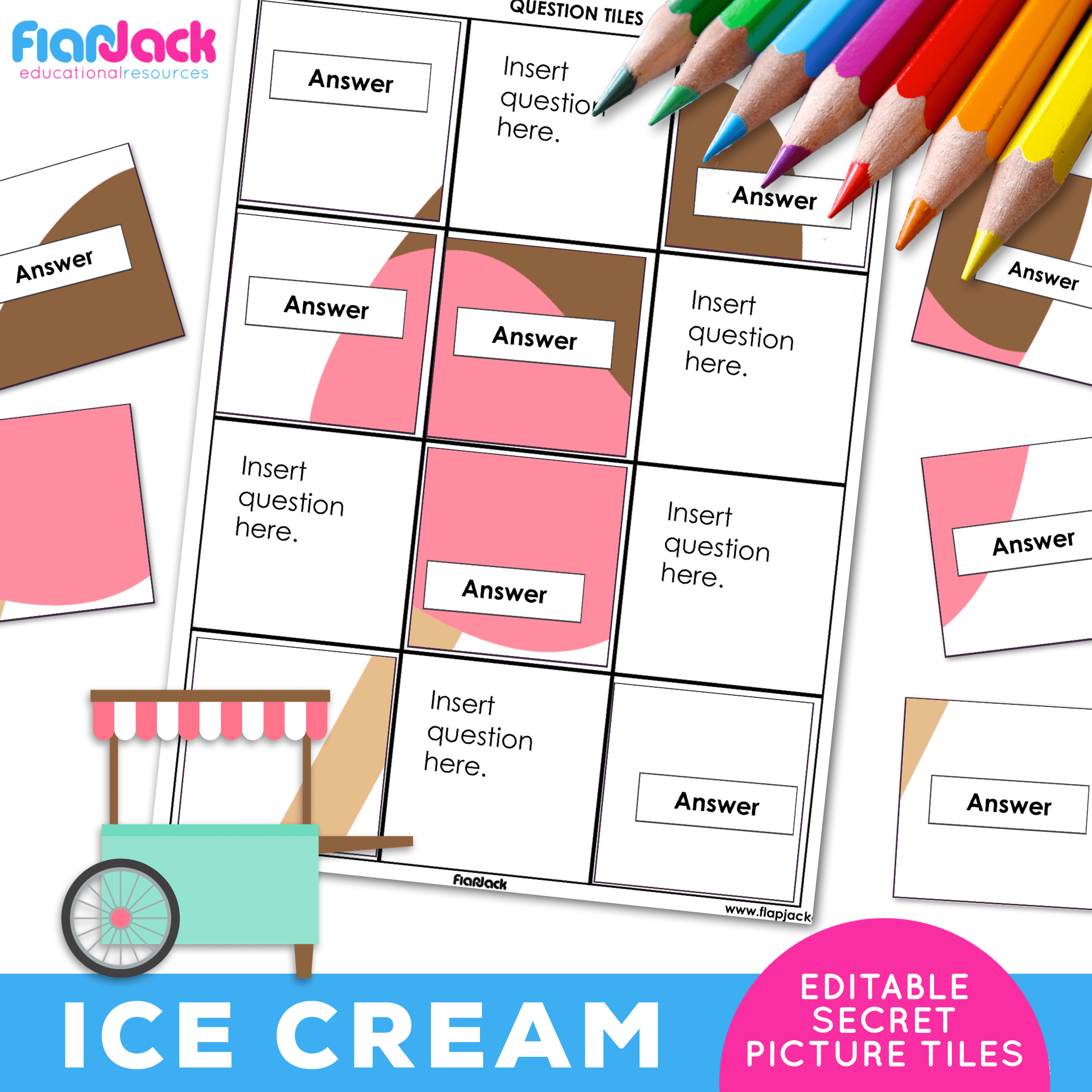 Printable EDITABLE Worksheets | Ice Cream