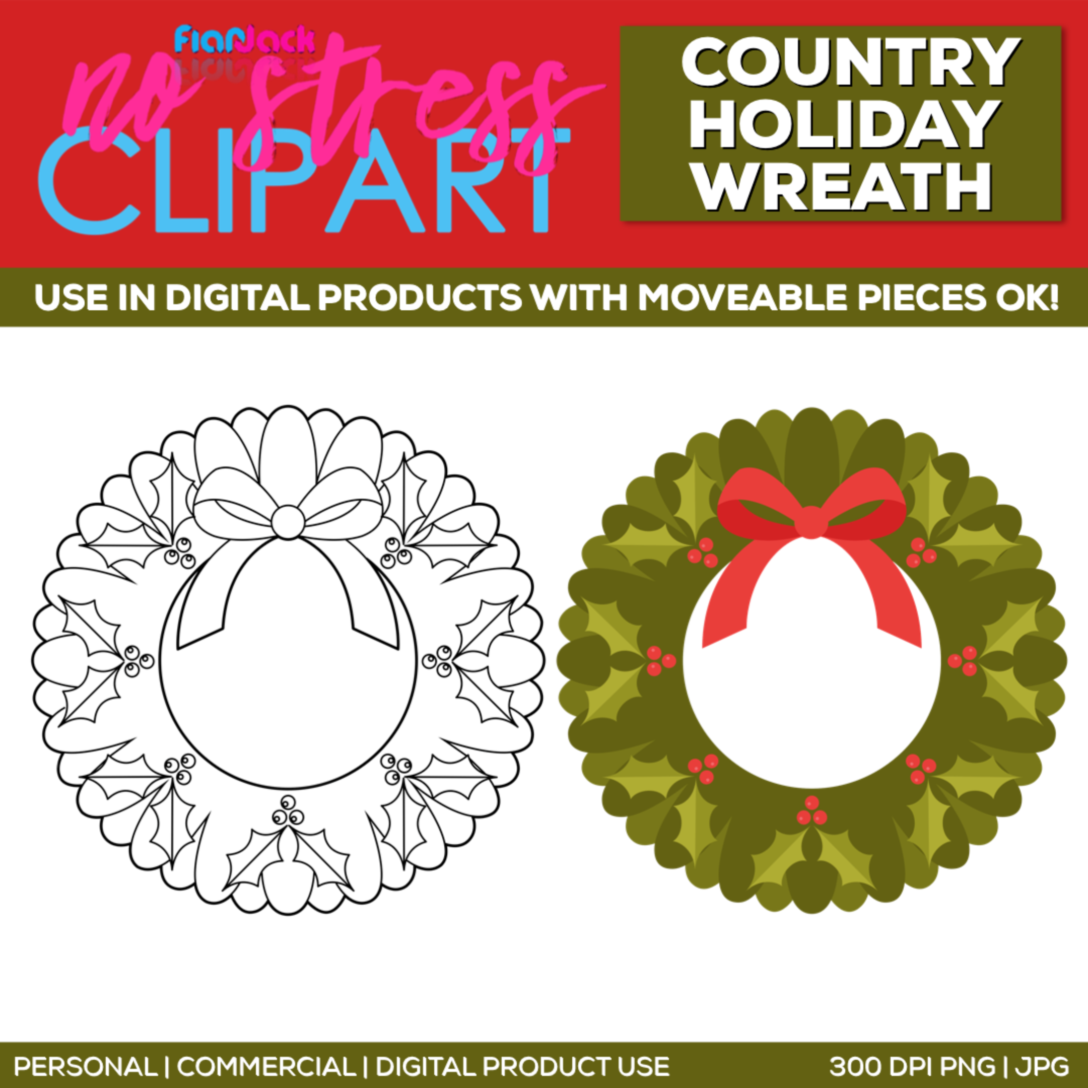 Country Holiday Wreath