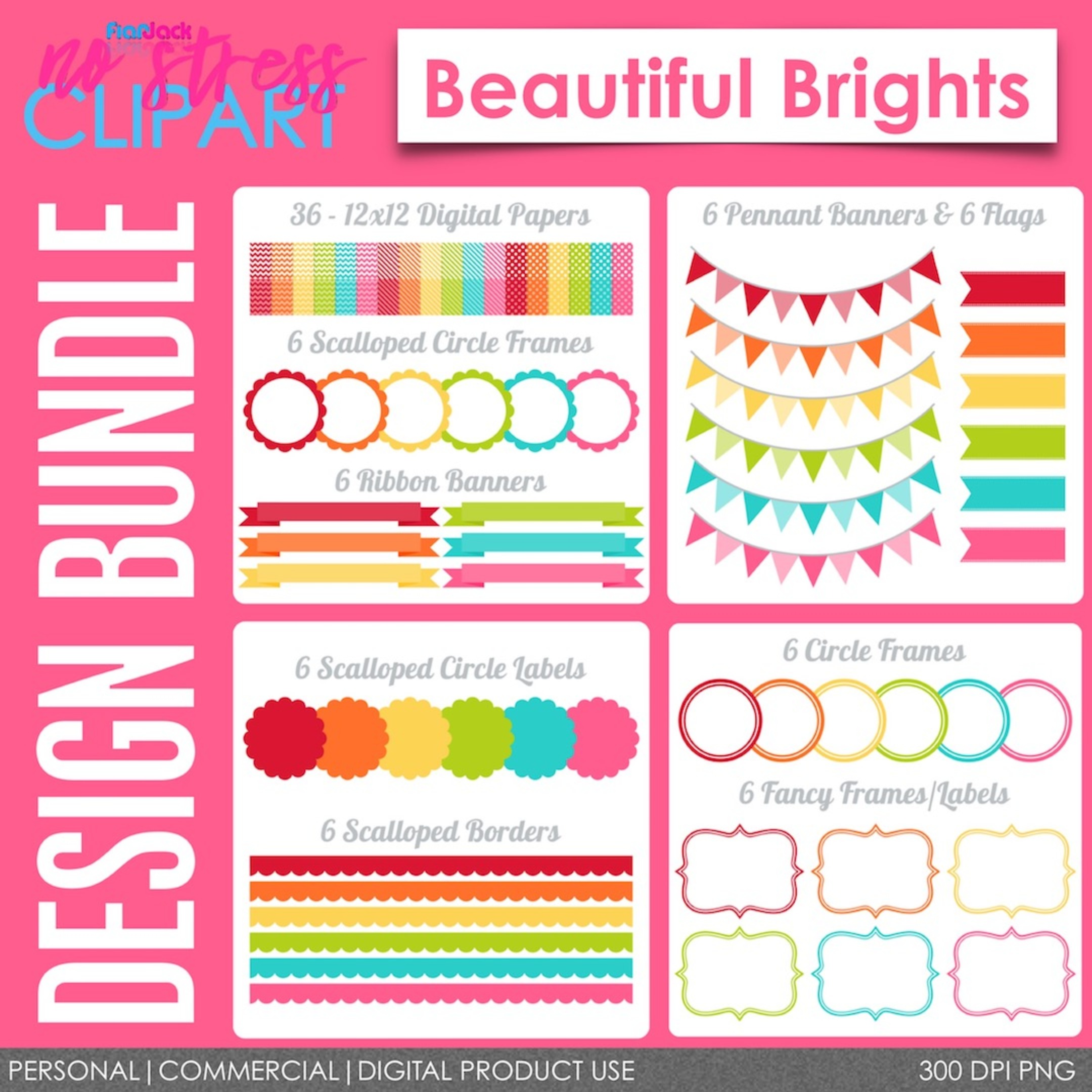 Beautiful Brights Design Bundle