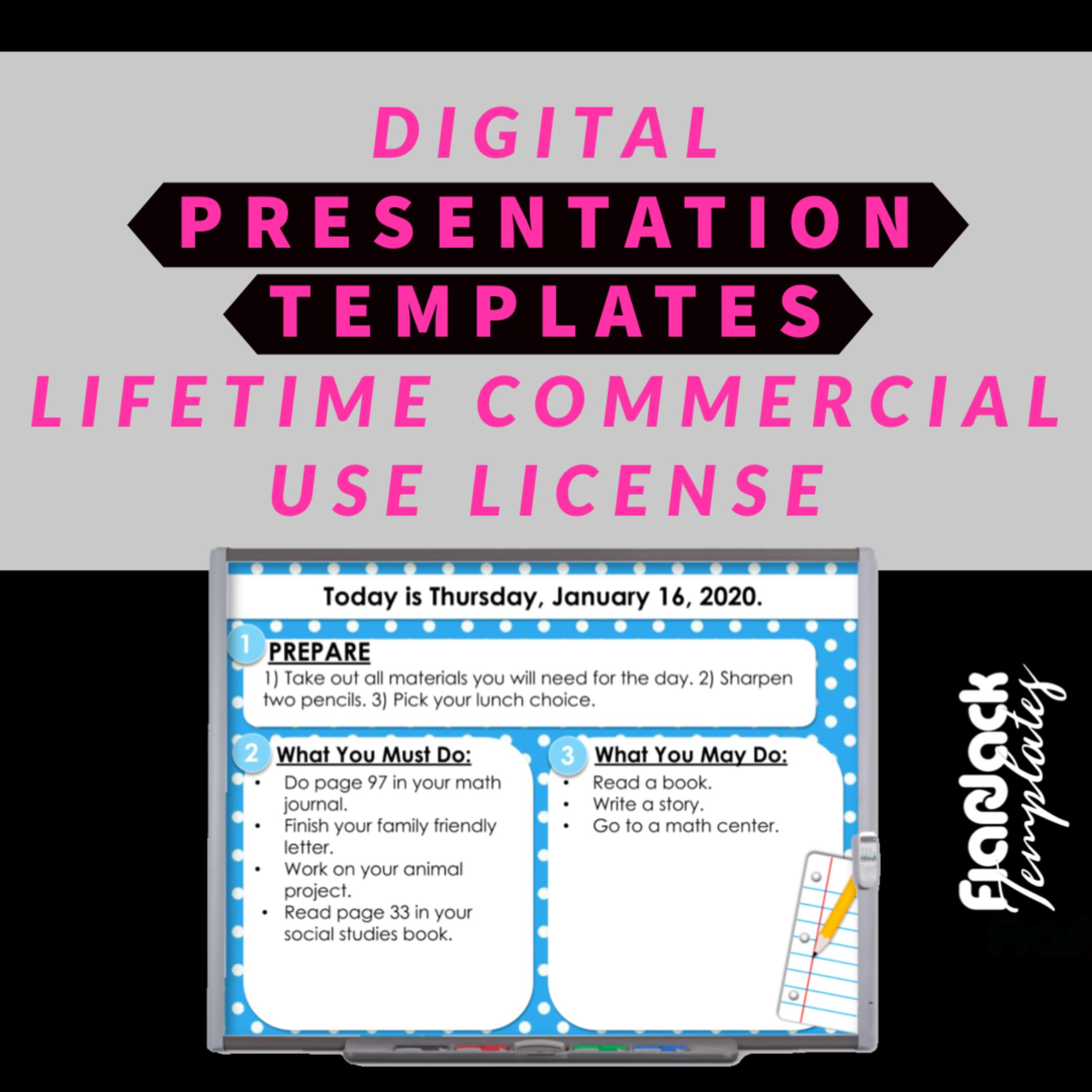 Digital PRESENTATION TEMPLATES Google Slides PPT Commercial License