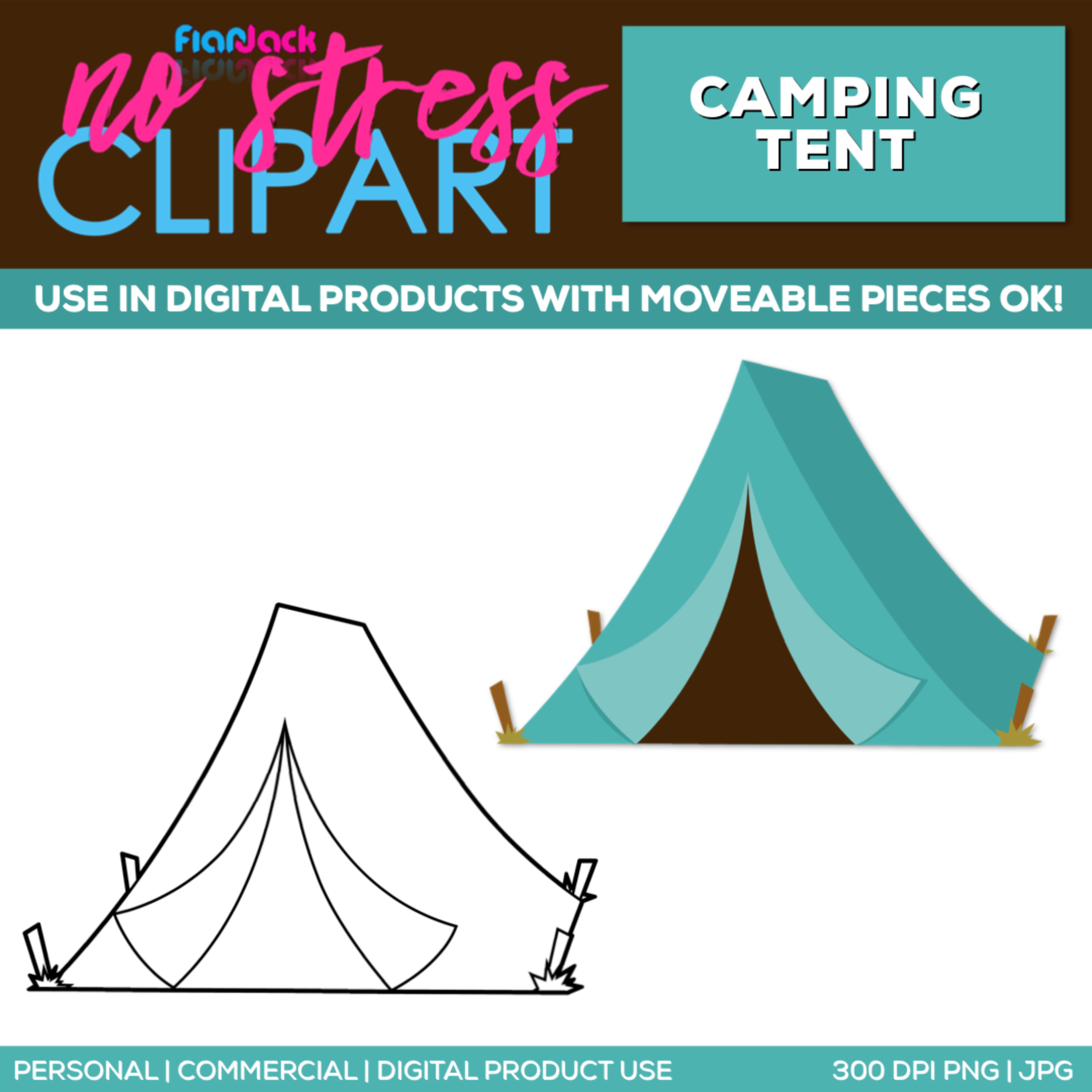 Camping Tent Clipart