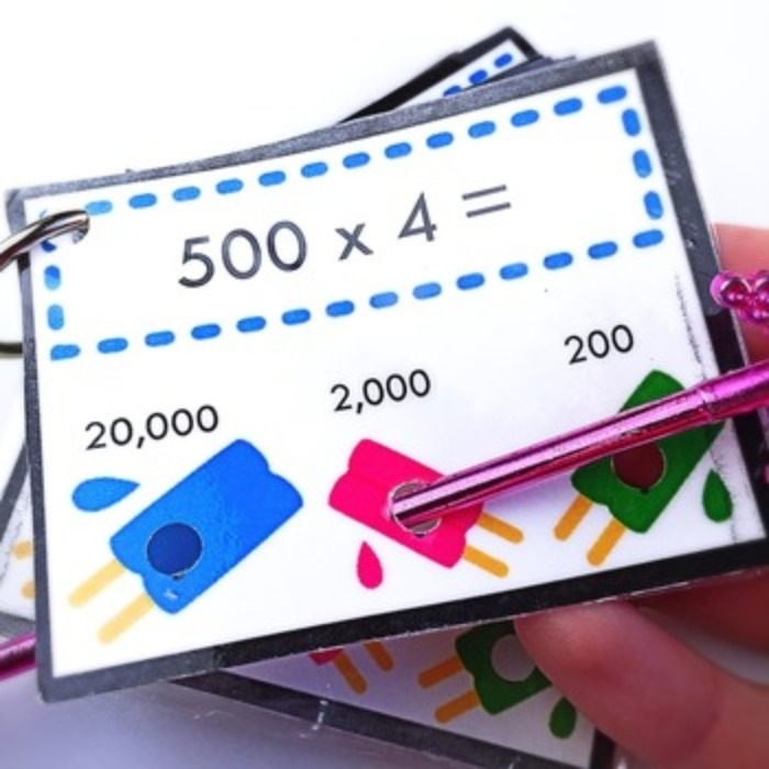Upper Elementary Math Poke Card Bundle