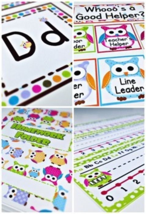 Owl Themed Class Decor Bundle