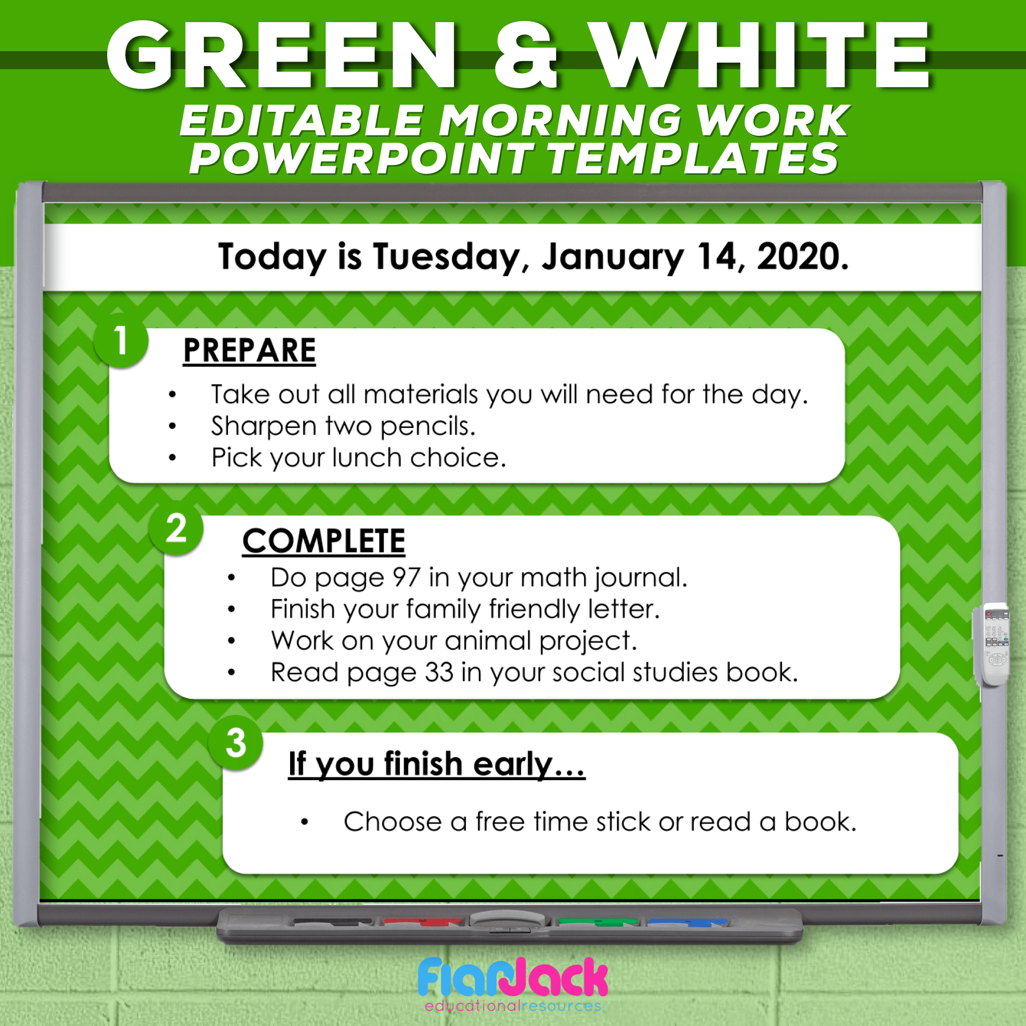 Editable PowerPoint Templates | Green and White