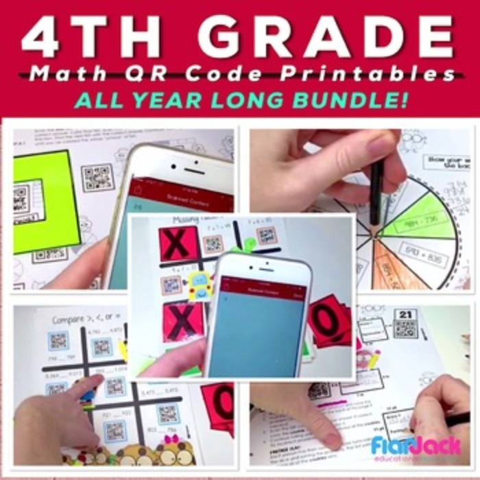 4th Grade Math Centers | Technology Integrated | MEGA BUNDLE
