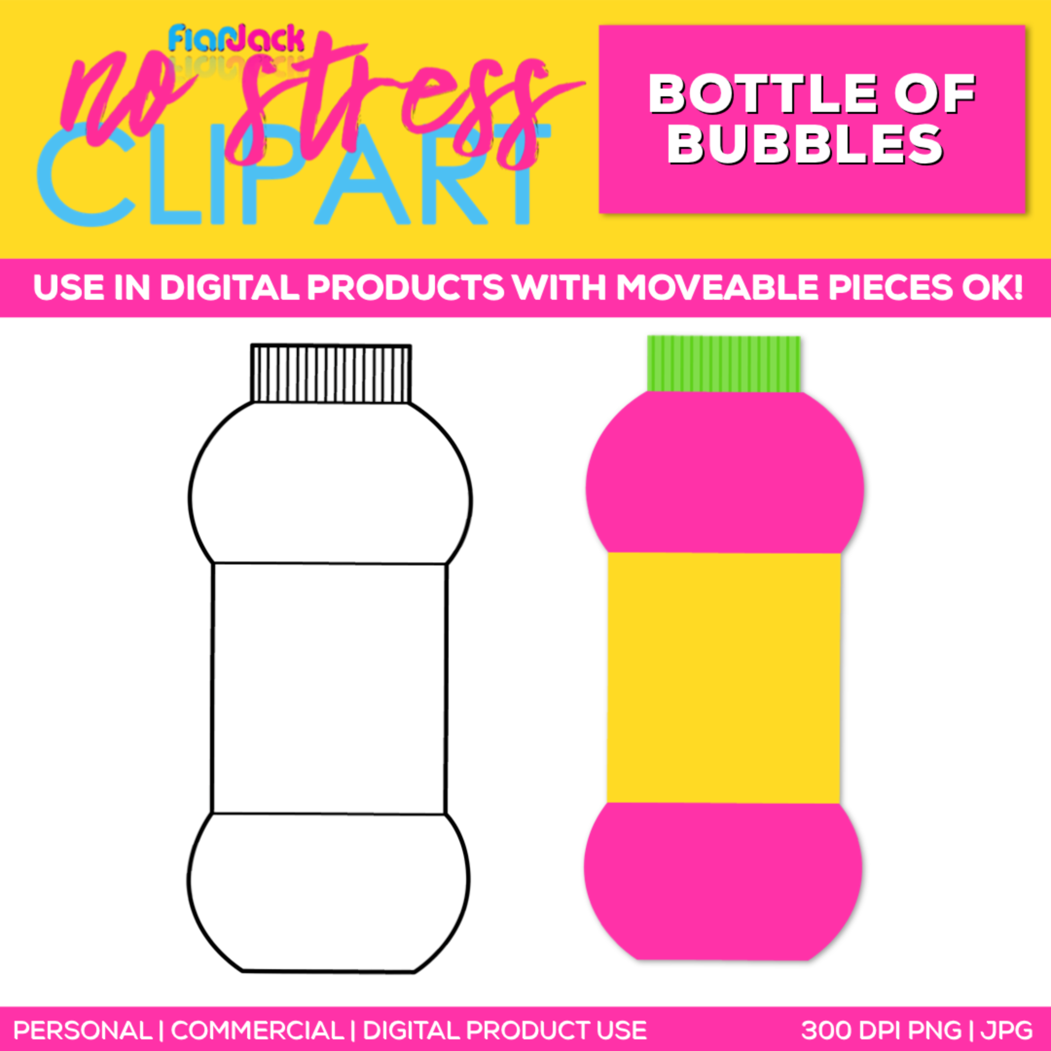 Bottle of Bubbles Clipart