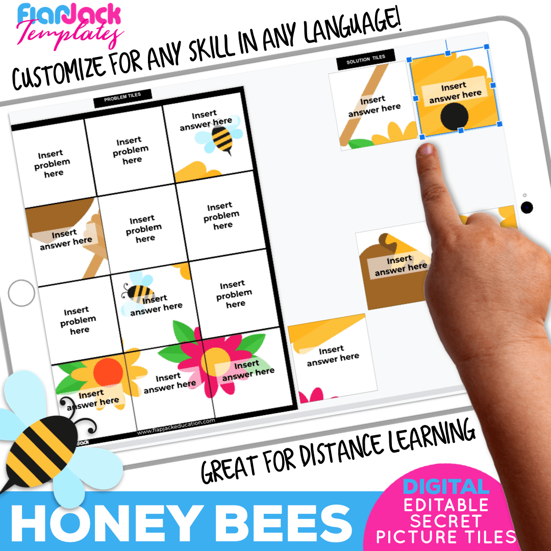Digital Editable Google Slide Secret Picture Tiles | Honey Bees