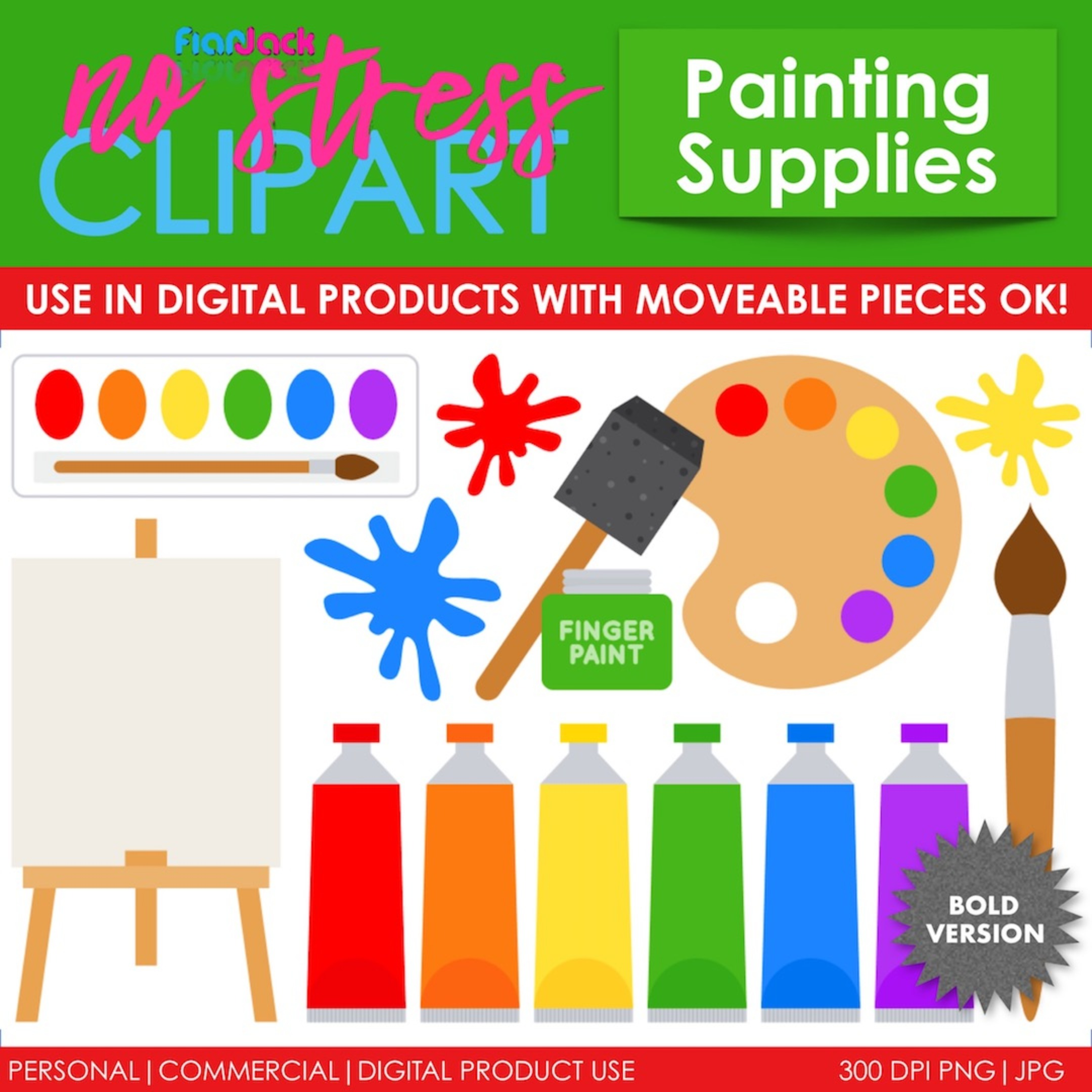 Painting Supplies (Bold Version)