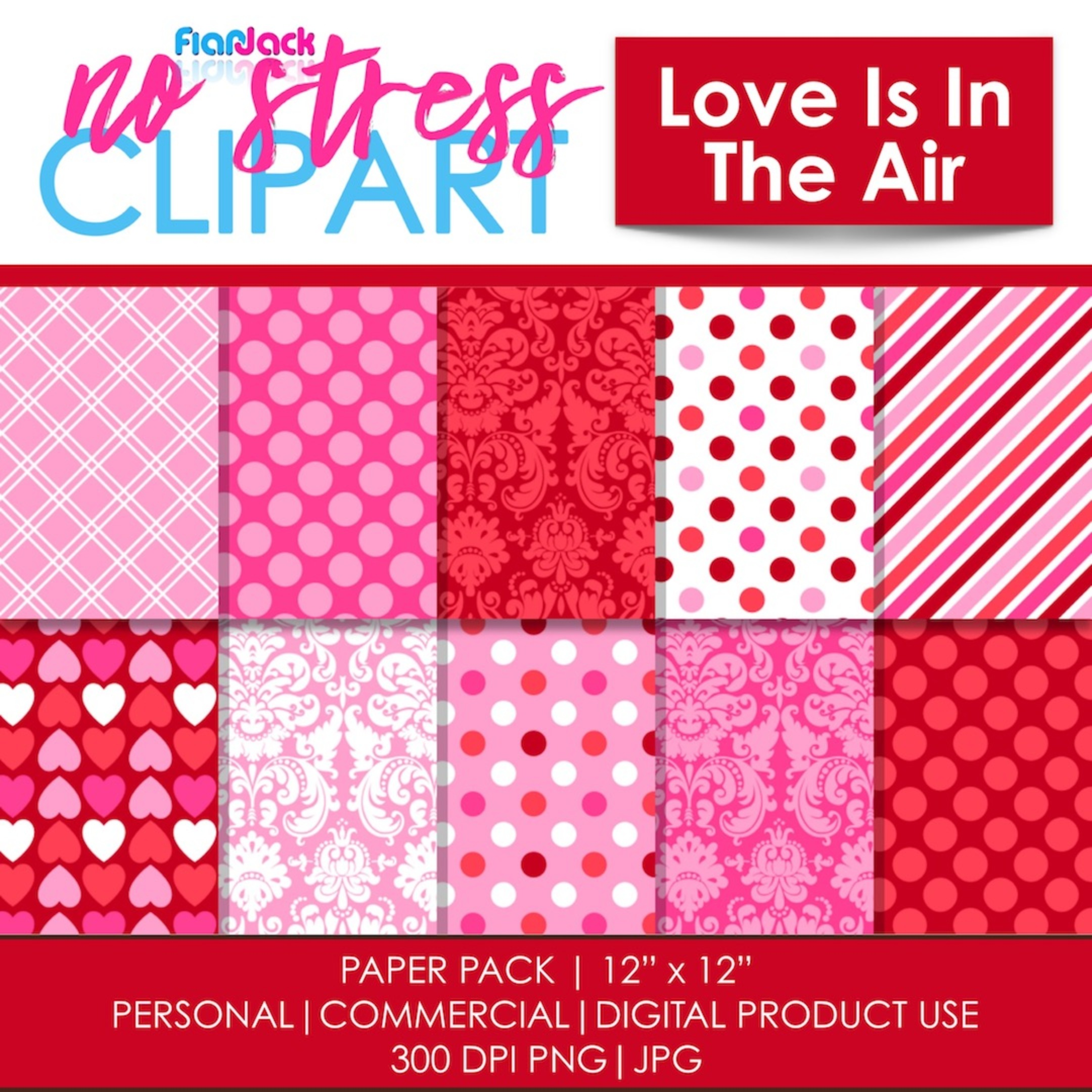 Love Is In The Air Digital Papers