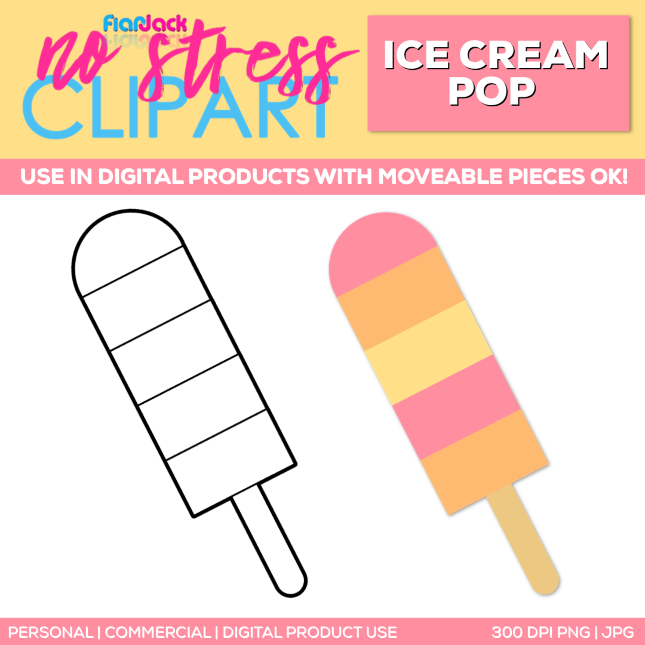 Ice Cream Pop Clipart