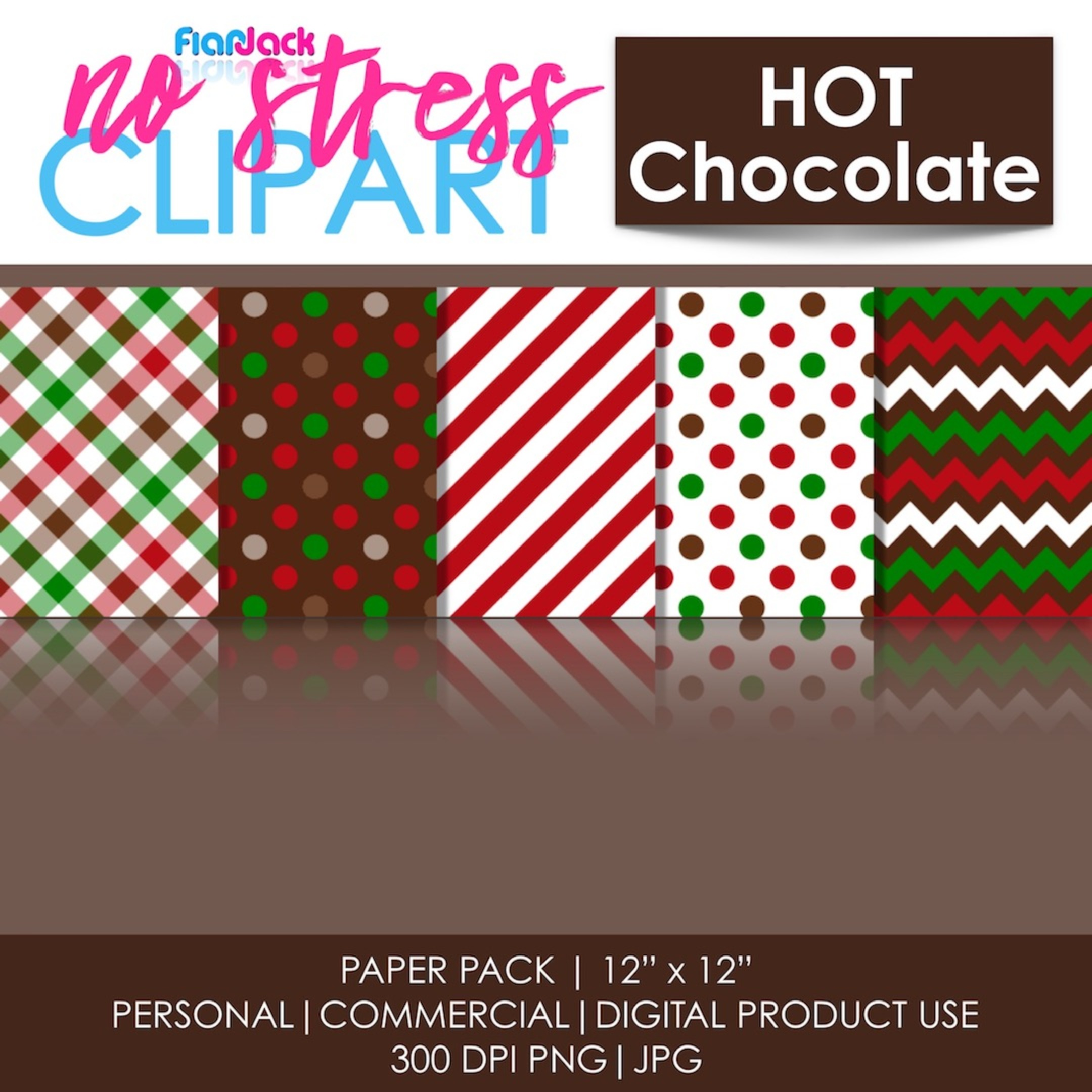 Hot Chocolate Digital Papers