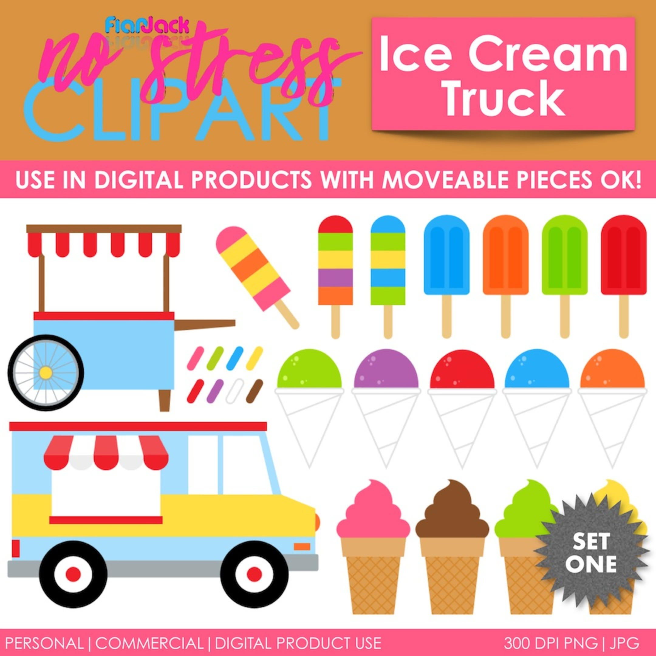 Ice Cream Truck Treats (Bright)