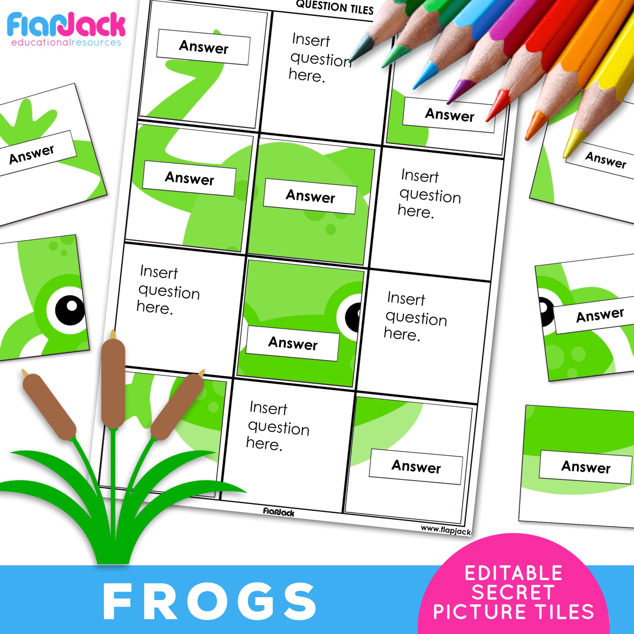 Printable EDITABLE Worksheets | Frogs