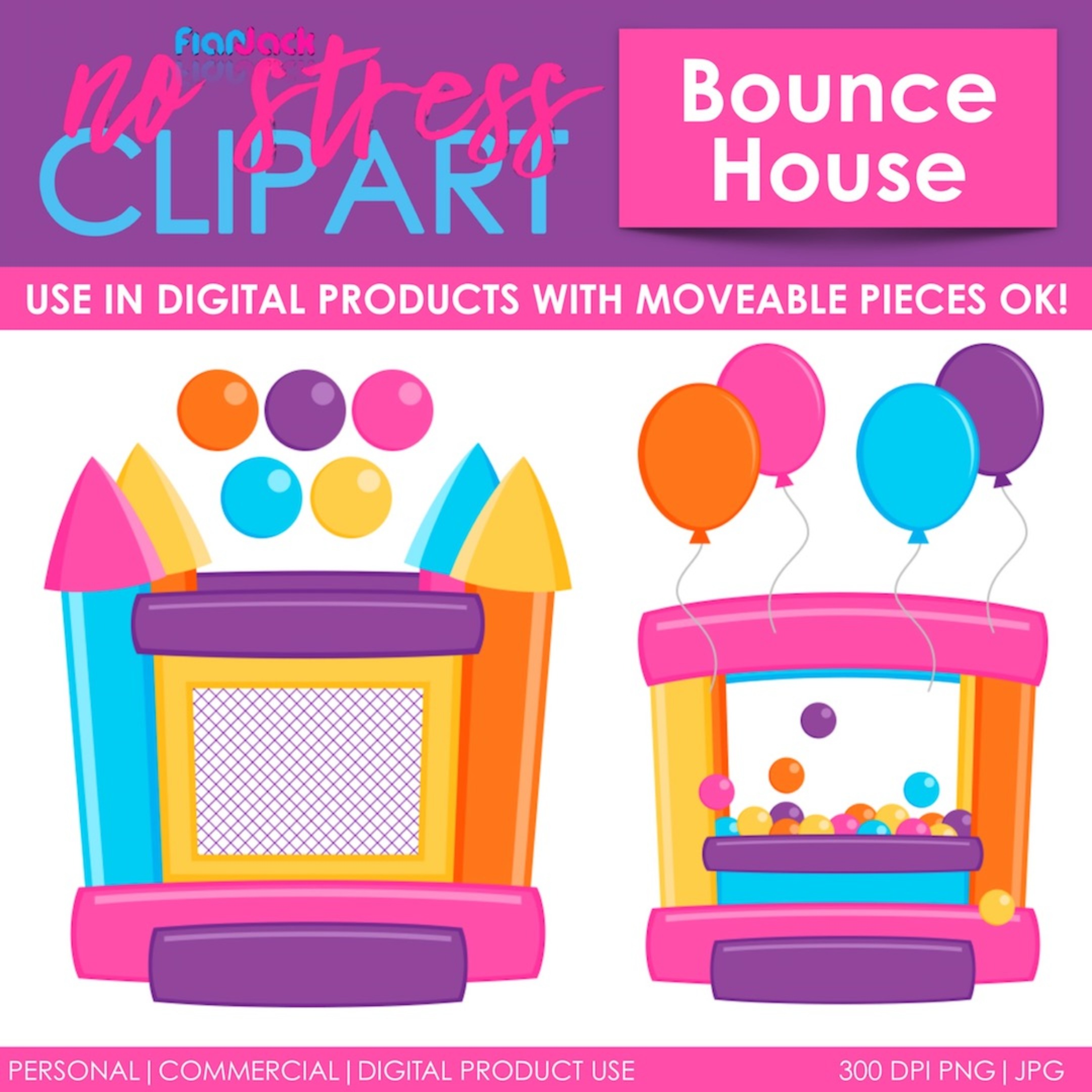 Bounce House Pink Version