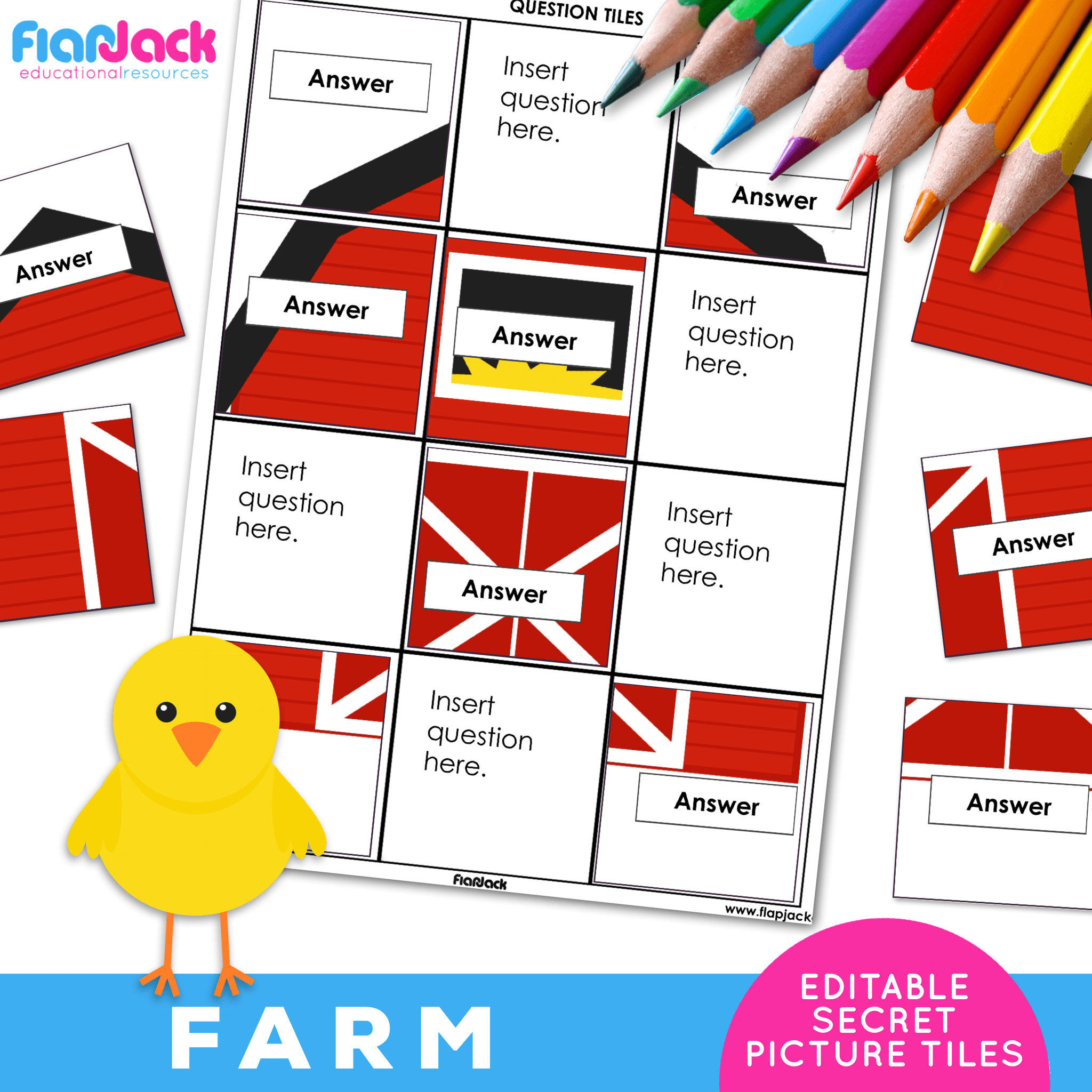 Printable EDITABLE Worksheets | Farm