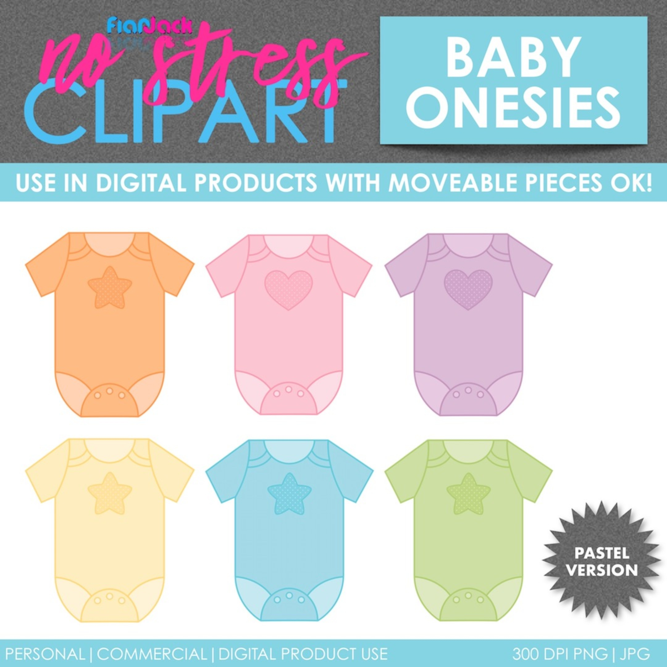 Baby Clothes Pastel Set