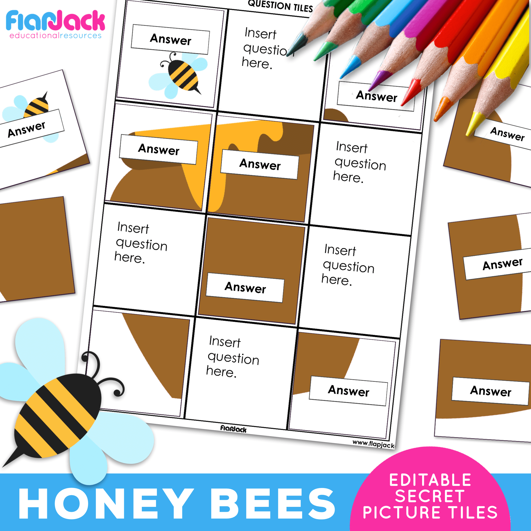 Printable EDITABLE Worksheets | Honey Bees