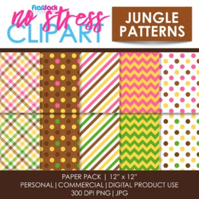 MONKEYS Clipart Plus Digital Papers BUNDLE