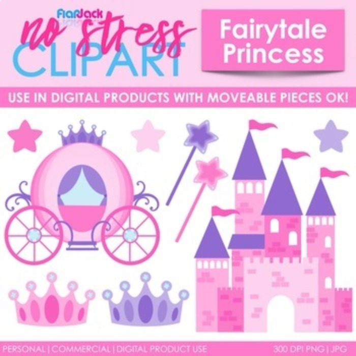 Princess Clipart Plus Digital Papers BUNDLE