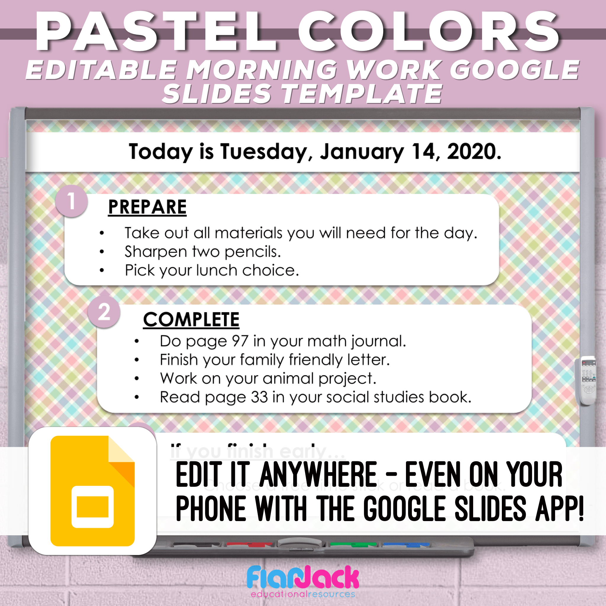 Editable Google Slide Templates | Pastel Colors