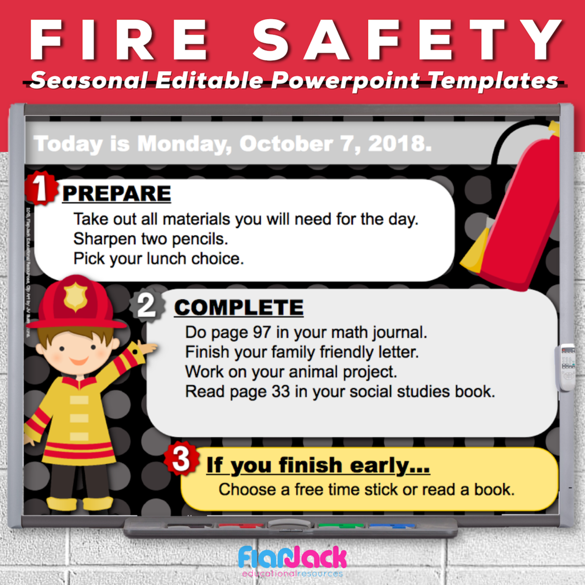 Fire Safety Editable PowerPoint Templates