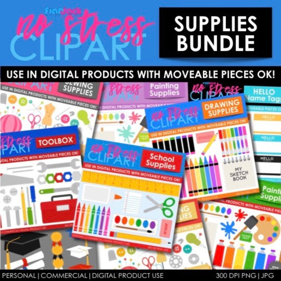 Supplies (School) Clipart BUNDLE