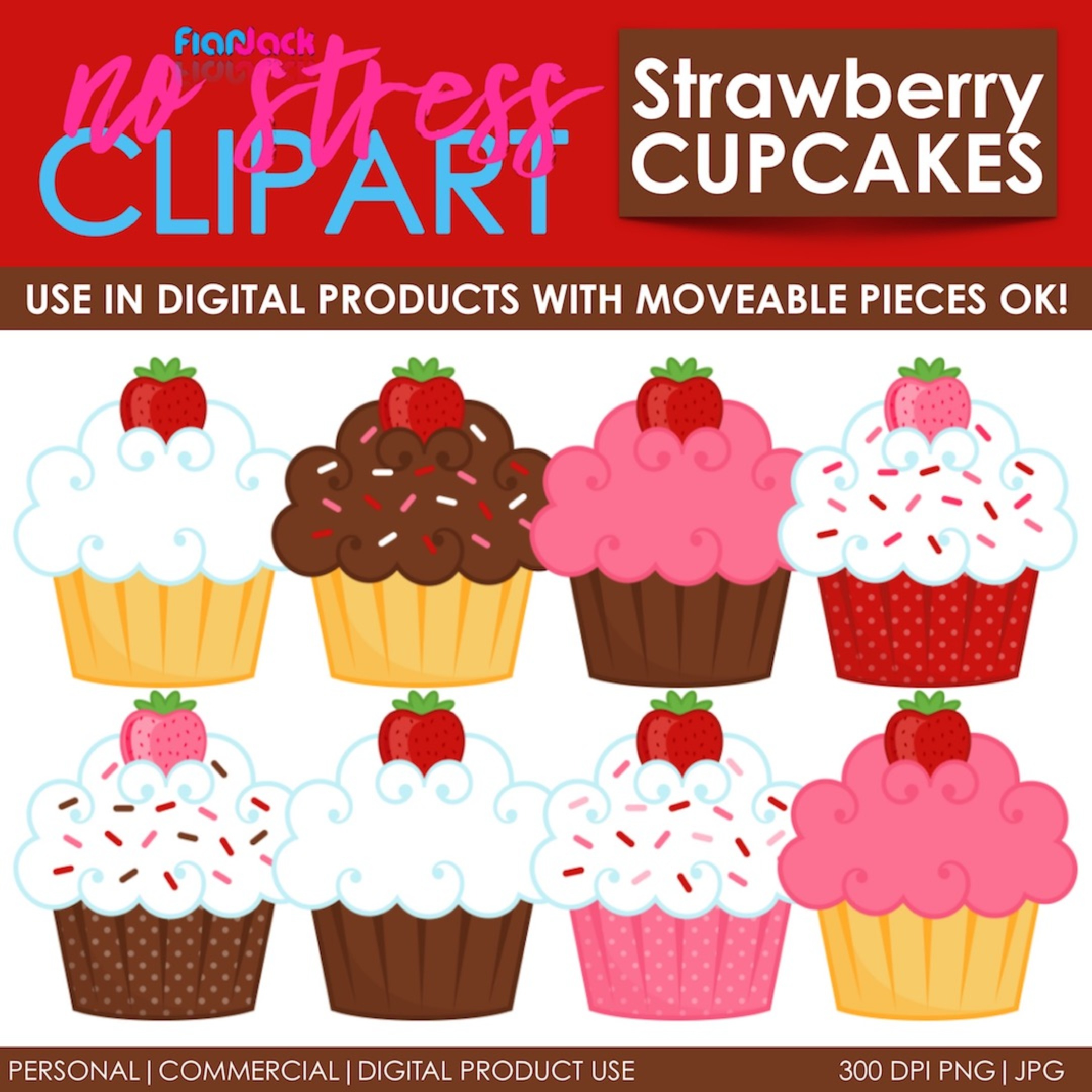 Strawberry Cupcakes With Sprinkles!