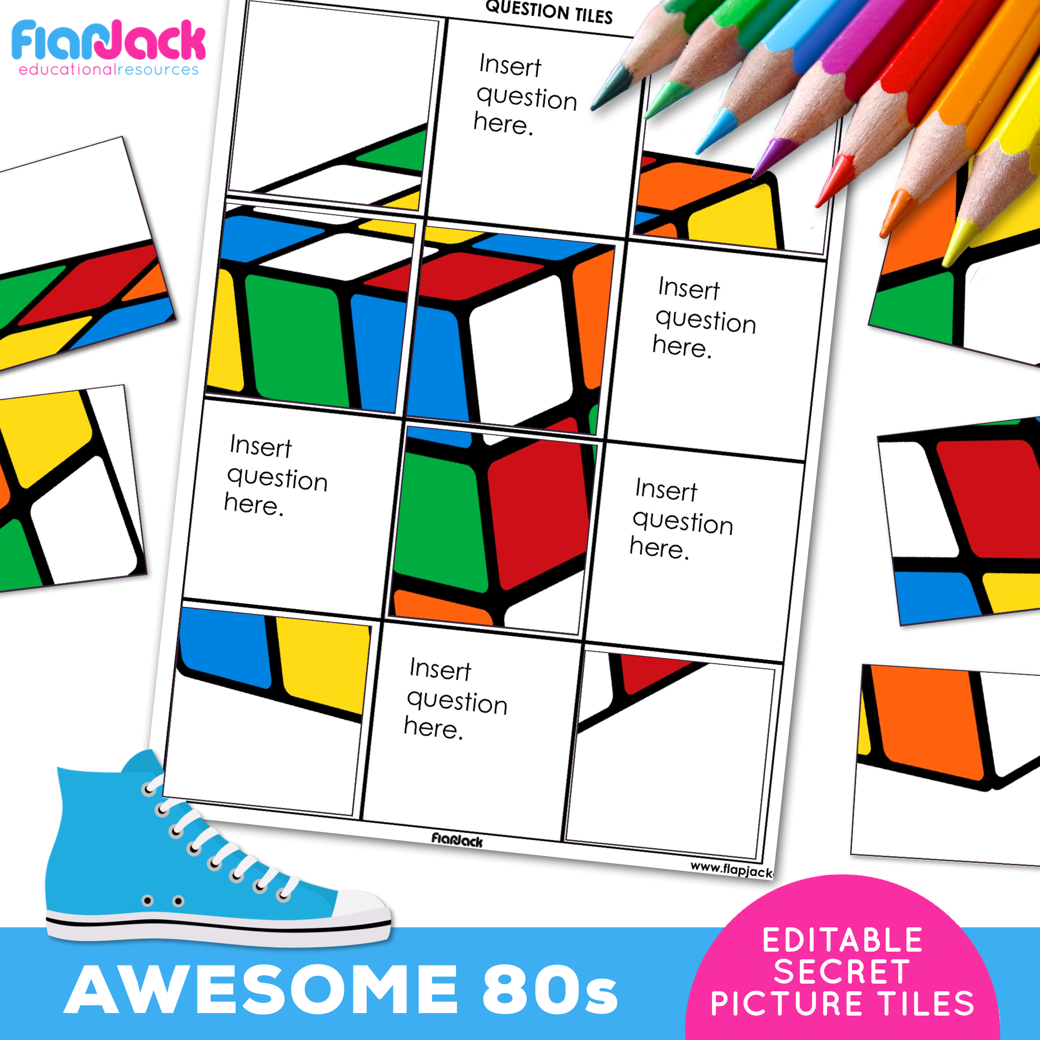 Printable EDITABLE Worksheets | Awesome 80s