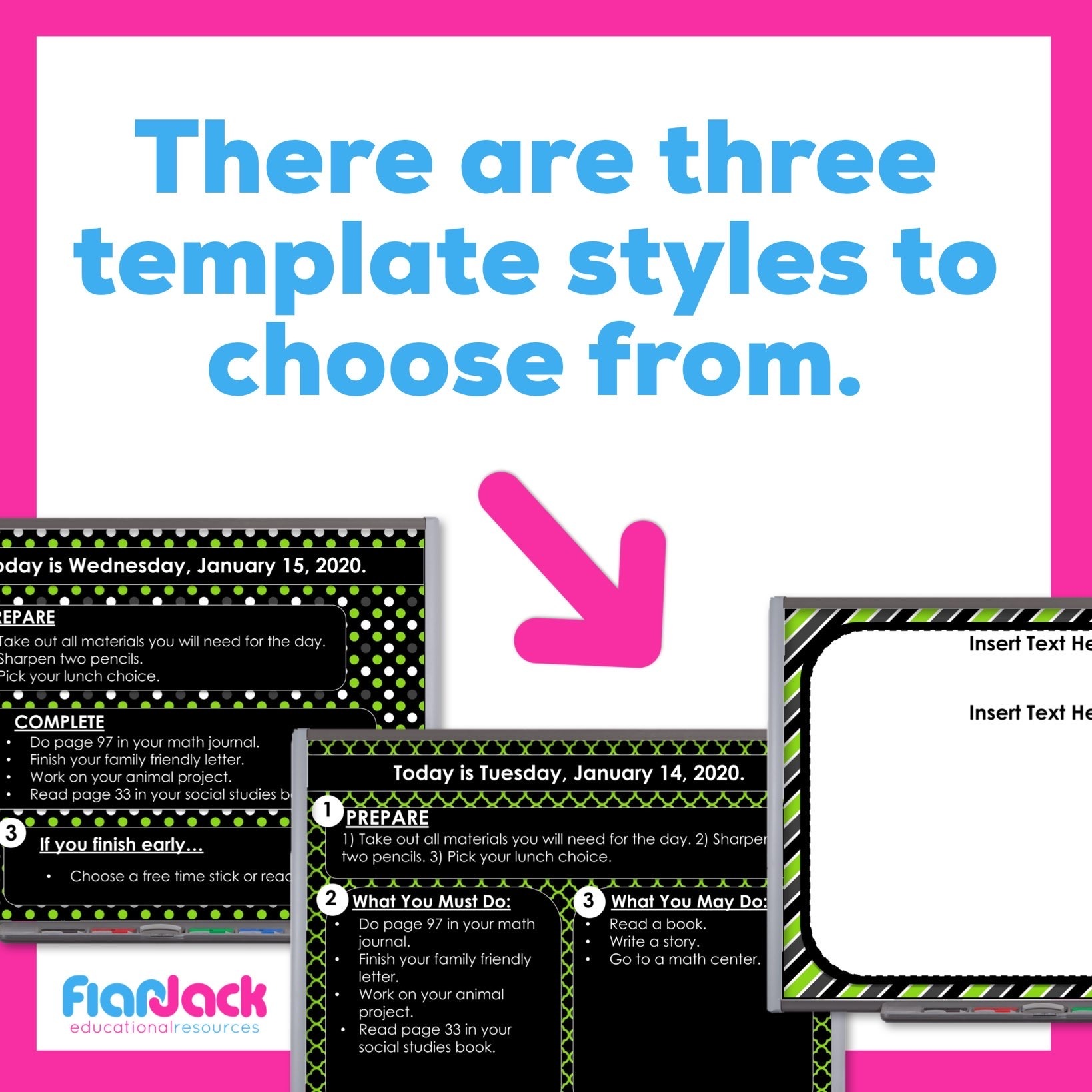 Editable Google Slide Templates | Green And Black