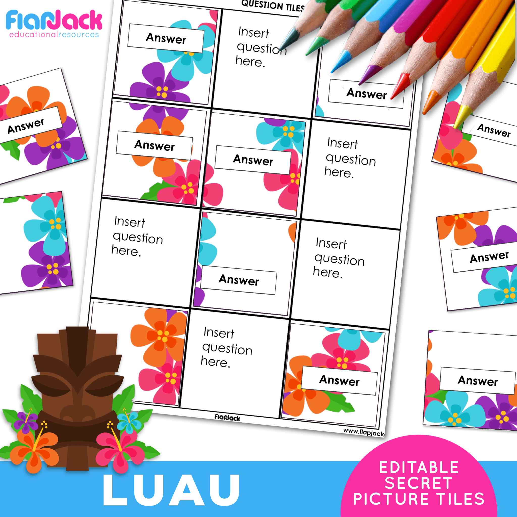 Printable EDITABLE Worksheets | Luau