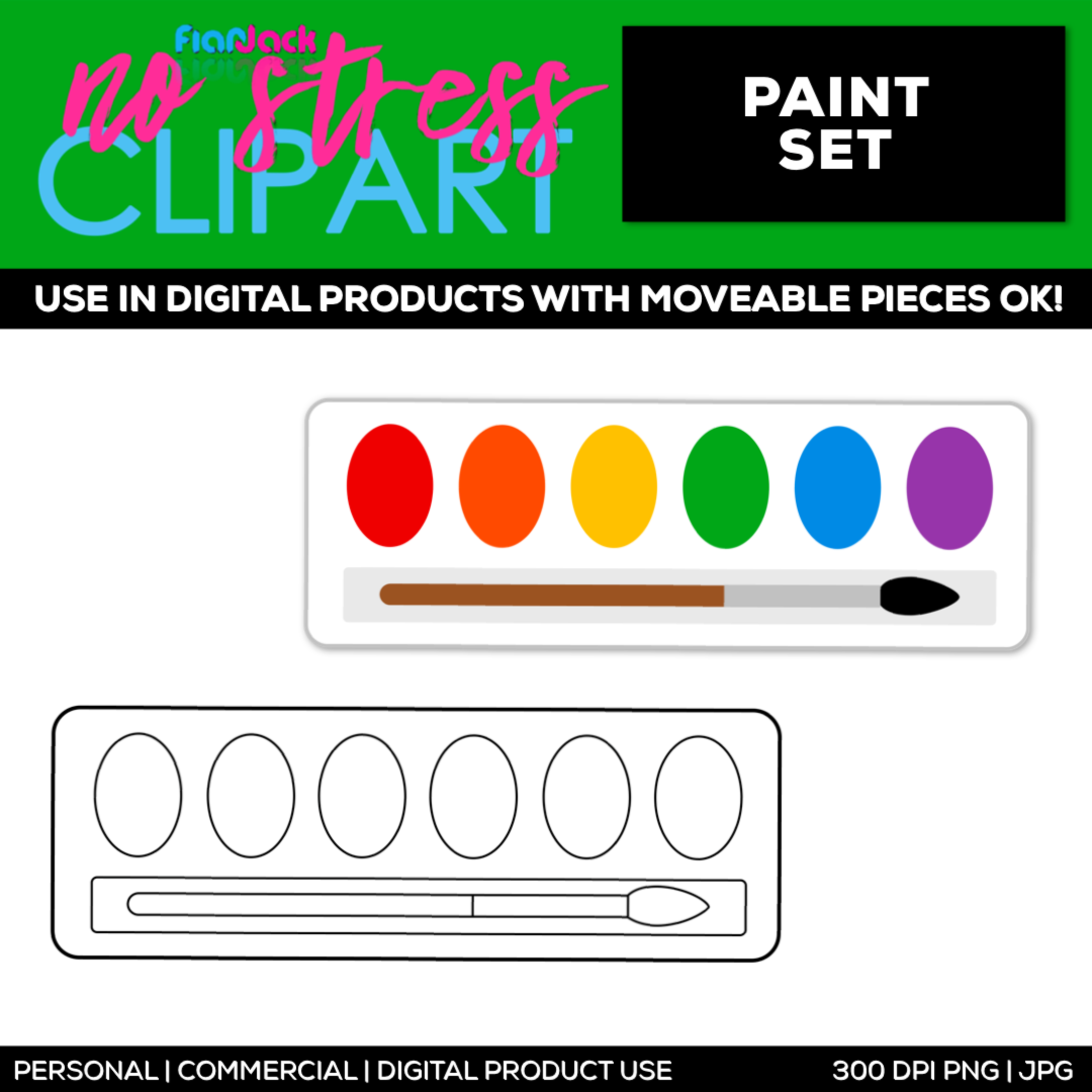 Paint Set Clipart