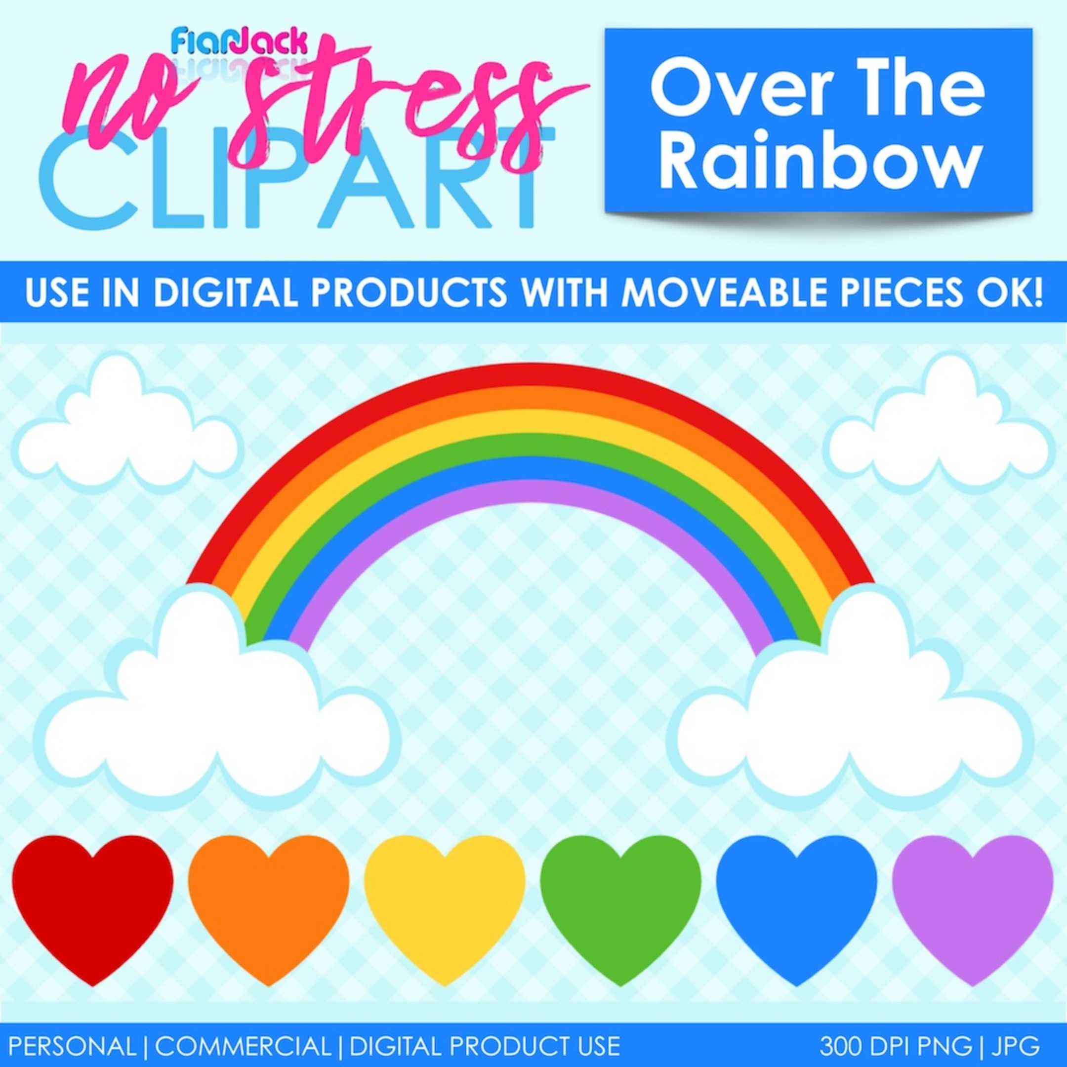 Over The Rainbow Clip Art