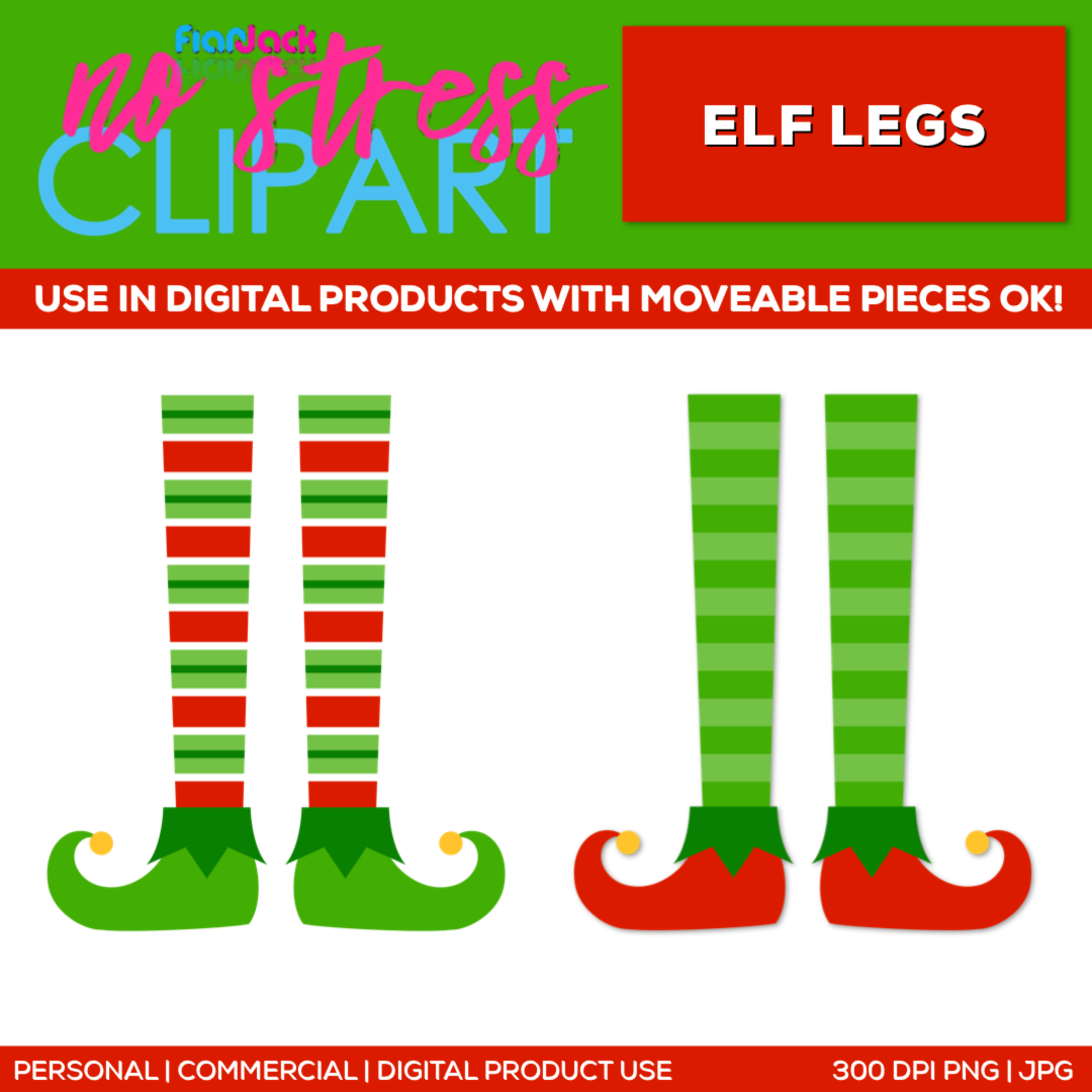Pair Of Elf Legs Clipart