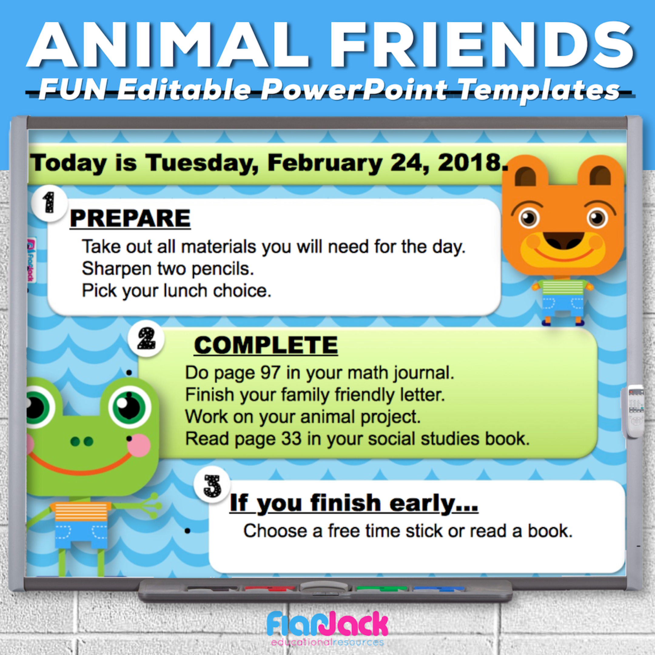 Animal Friends Editable PowerPoint Templates
