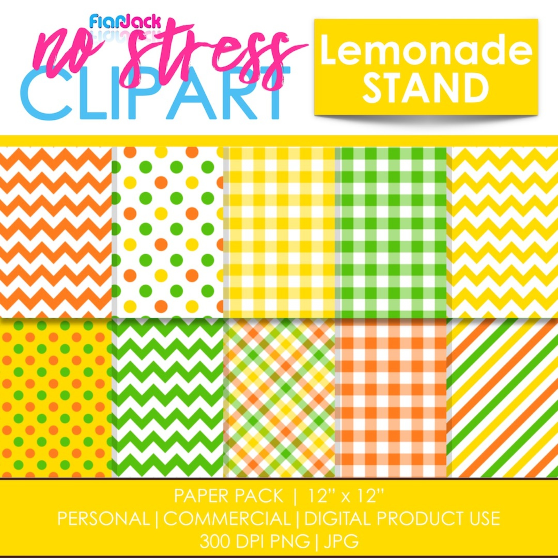 Lemonade Stand Digital Papers